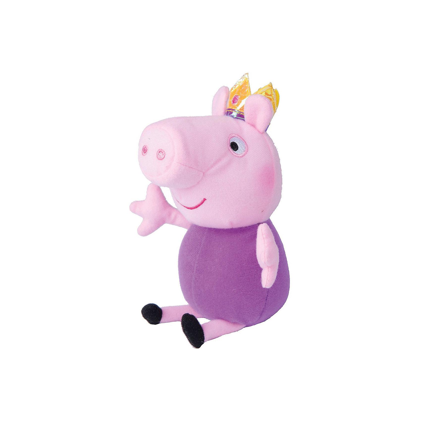 Мягкая игрушка Джордж принц, 20 см, Peppa PigЛюбимые герои<br>Мягкая игрушка Джордж принц 20 см, Peppa Pig (Свинка Пеппа). <br><br>Характеристика:<br><br>• Материал: пластик, текстиль, плюш.   <br>• Размер игрушки: 20 см.<br>• Игрушка мягкая, очень приятная на ощупь. <br><br>Дети обожают мягкие игрушки! Игрушка в виде любимого героя мультсериала Peppa Pig, Джорджа, приведет в восторг любого ребенка. Малютка-Джордж сшит из мягкого приятного на ощупь плюща. С ним так весело играть днем и приятно засыпать вечером. <br>Собери всю коллекцию плюшевых игрушек Peppa Pig проигрывай сцены из любимых мультфильмов или придумывай свои забавные и интересные истории!  <br><br>Мягкую игрушку Джордж принц 20 см, Peppa Pig (Свинка Пеппа), можно купить в нашем интернет-магазине.<br><br>Ширина мм: 160<br>Глубина мм: 100<br>Высота мм: 75<br>Вес г: 50<br>Возраст от месяцев: 36<br>Возраст до месяцев: 2147483647<br>Пол: Унисекс<br>Возраст: Детский<br>SKU: 5211683