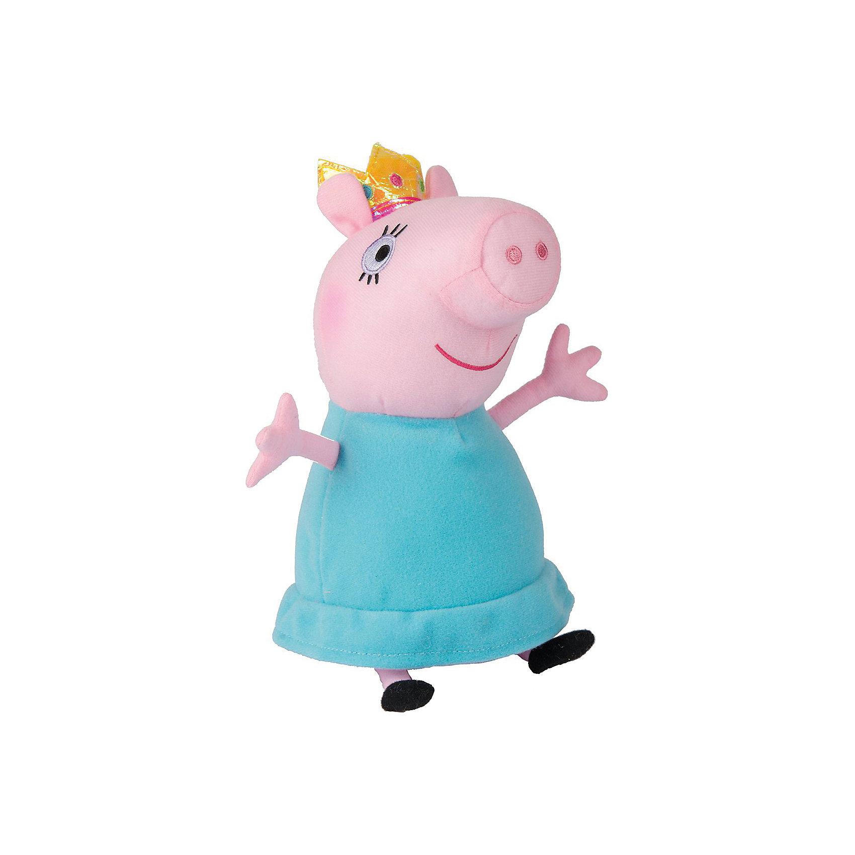 Мягкая игрушка Мама-Свинка королева, 30 см, Peppa PigЛюбимые герои<br>Мягкая игрушка Мама-Свинка королева, 30 см, Peppa Pig (Свинка Пеппа). <br><br>Характеристика:<br><br>• Материал: пластик, текстиль, плюш.   <br>• Размер игрушки: 30 см.<br>• Игрушка мягкая, очень приятная на ощупь. <br><br>Игрушка в виде любимого персонажа мультсериала Peppa Pig, приведет в восторг любого ребенка! Мама-Свинка в образе королевы неотразима и восхитительна! Игрушка сшита из мягкого приятного на ощупь плюща. С ней очень весело играть днем и приятно засыпать вечером.<br>Собери всю коллекцию плюшевых игрушек Peppa Pig проигрывай сцены из любимых мультфильмов или придумывай свои забавные и интересные истории!  <br><br>Мягкую игрушку Мама-Свинка королева, 30 см, Peppa Pig (Свинка Пеппа), можно купить в нашем интернет-магазине.<br><br>Ширина мм: 230<br>Глубина мм: 135<br>Высота мм: 120<br>Вес г: 141<br>Возраст от месяцев: 36<br>Возраст до месяцев: 2147483647<br>Пол: Унисекс<br>Возраст: Детский<br>SKU: 5211684