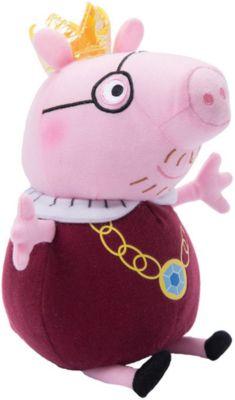 Росмэн Мягкая игрушка Папа-Свин король , 30 см, Peppa Pig