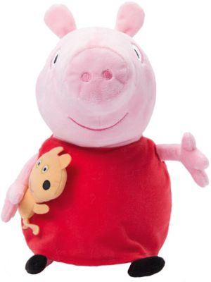 Росмэн Мягкая игрушка Пеппа с игрушкой , 40 см, Peppa Pig