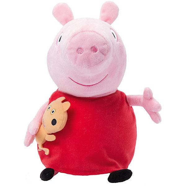 Мягкая игрушка Пеппа с игрушкой, 40 см, Peppa PigМягкие игрушки из мультфильмов<br>Мягкая игрушка Пеппа с игрушкой, 40 см, Peppa Pig (Свинка Пеппа). <br><br>Характеристика:<br><br>• Материал: пластик, текстиль, плюш.   <br>• Размер игрушки: 40 см.<br>• Игрушка мягкая, очень приятная на ощупь. <br><br>Очаровательная мягкая Свинка, главная героиня популярного мультсериала Peppa Pig, приведет в восторг любого ребенка! Малышка Пеппа очень мягкая и приятная на ощупь: с ней так весело играть днем и приятно засыпать вечером. <br>Игрушка выполнена из высококачественных гипоаллергенных материалов безопасных даже для малышей. <br><br>Мягкую игрушку Пеппа с игрушкой, 40 см, Peppa Pig (Свинка Пеппа), можно купить в нашем интернет-магазине.<br><br>Ширина мм: 280<br>Глубина мм: 180<br>Высота мм: 140<br>Вес г: 210<br>Возраст от месяцев: 36<br>Возраст до месяцев: 2147483647<br>Пол: Унисекс<br>Возраст: Детский<br>SKU: 5211686