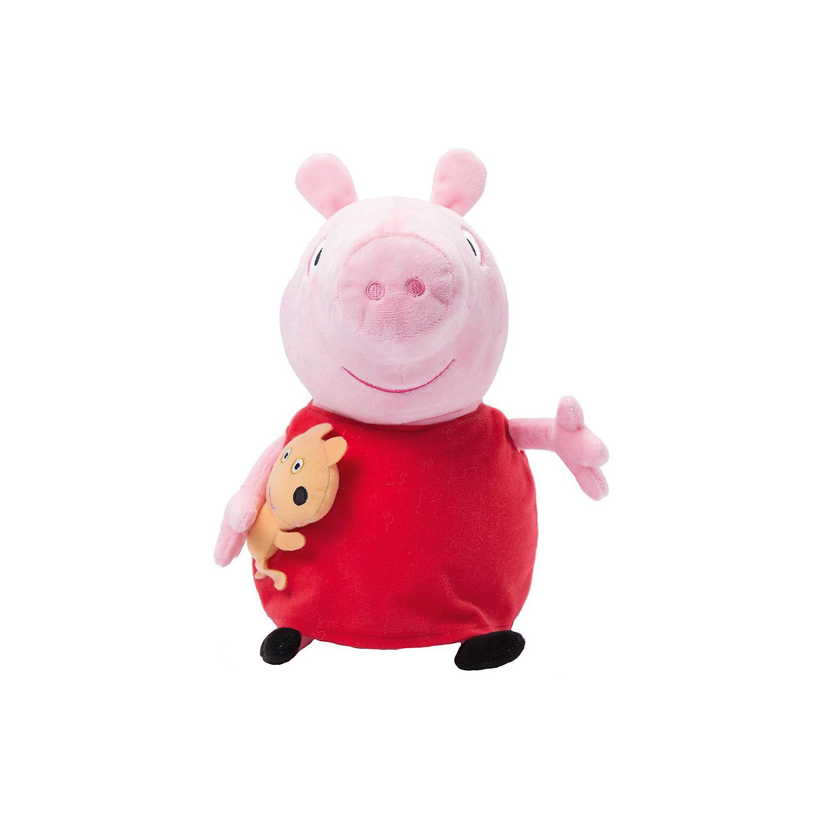 Мягкая игрушка Пеппа с игрушкой, 40 см, Peppa PigМягкая игрушка Пеппа с игрушкой, 40 см, Peppa Pig (Свинка Пеппа). <br><br>Характеристика:<br><br>• Материал: пластик, текстиль, плюш.   <br>• Размер игрушки: 40 см.<br>• Игрушка мягкая, очень приятная на ощупь. <br><br>Очаровательная мягкая Свинка, главная героиня популярного мультсериала Peppa Pig, приведет в восторг любого ребенка! Малышка Пеппа очень мягкая и приятная на ощупь: с ней так весело играть днем и приятно засыпать вечером. <br>Игрушка выполнена из высококачественных гипоаллергенных материалов безопасных даже для малышей. <br><br>Мягкую игрушку Пеппа с игрушкой, 40 см, Peppa Pig (Свинка Пеппа), можно купить в нашем интернет-магазине.<br><br>Ширина мм: 280<br>Глубина мм: 180<br>Высота мм: 140<br>Вес г: 210<br>Возраст от месяцев: 36<br>Возраст до месяцев: 2147483647<br>Пол: Унисекс<br>Возраст: Детский<br>SKU: 5211686
