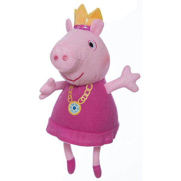 Мягкая игрушка Пеппа-принцесса, 20 см, Peppa PigМягкие игрушки из мультфильмов<br>Мягкая игрушка Пеппа-принцесса, 20 см, Peppa Pig (Свинка Пеппа). <br><br>Характеристика:<br><br>• Материал: пластик, текстиль, плюш.   <br>• Размер игрушки: 20 см.<br>• Игрушка мягкая, очень приятная на ощупь. <br><br>Игрушка в виде любимого персонажа мультсериала Peppa Pig, приведет в восторг любого ребенка! Очаровательная Свинка Пеппа в образе принцессы неотразима и восхитительна! Игрушка сшита из мягкого приятного на ощупь плюща. С ней очень весело играть днем и приятно засыпать вечером.<br>Собери всю коллекцию плюшевых игрушек Peppa Pig проигрывай сцены из любимых мультфильмов или придумывай свои забавные и интересные истории!  <br><br>Мягкую игрушку Пеппа-принцесса, 20 см, Peppa Pig (Свинка Пеппа), можно купить в нашем интернет-магазине.<br>Ширина мм: 180; Глубина мм: 90; Высота мм: 80; Вес г: 40; Возраст от месяцев: 36; Возраст до месяцев: 2147483647; Пол: Унисекс; Возраст: Детский; SKU: 5211687;
