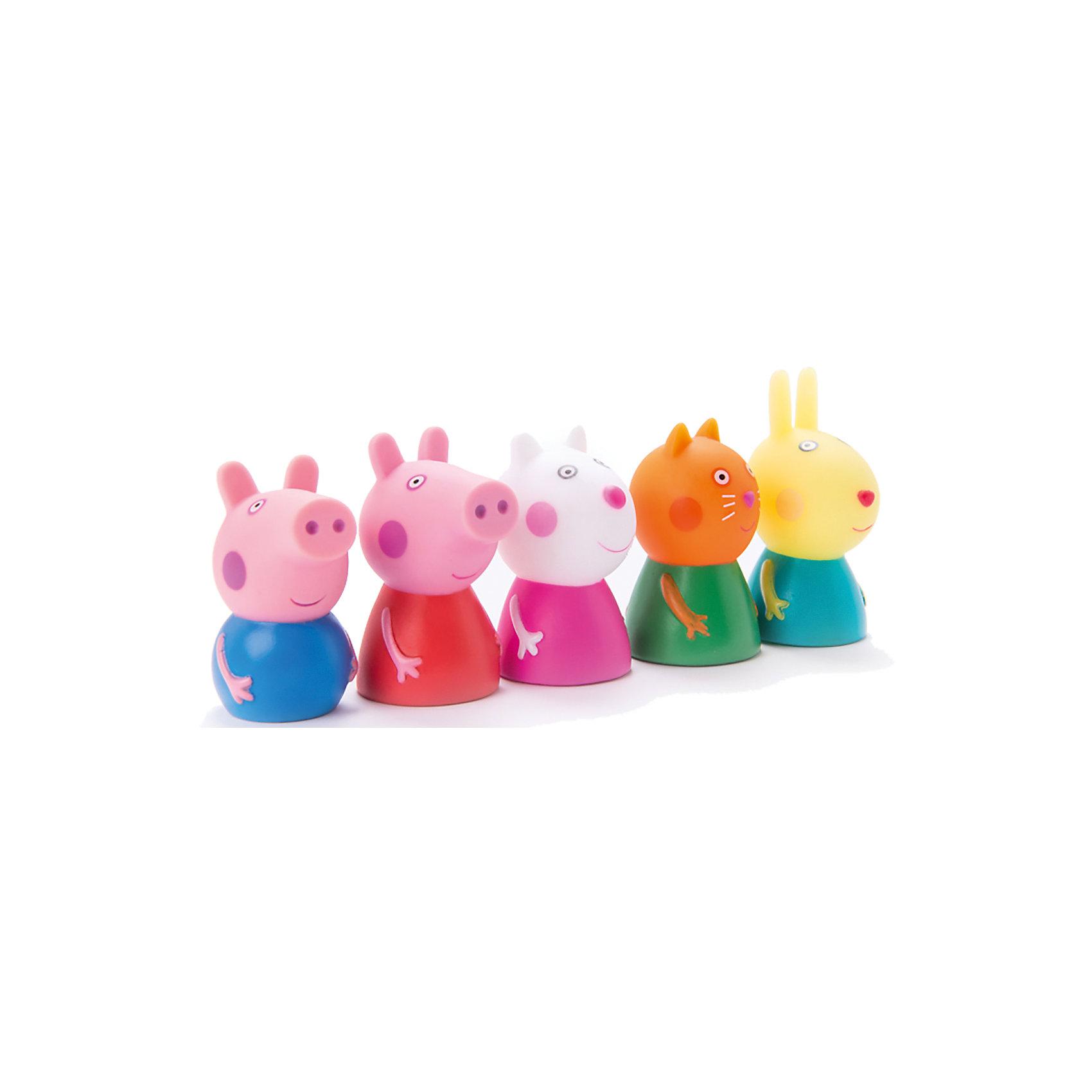 Пальчиковый театр 5 фигурок, Peppa PigКоллекционные и игровые фигурки<br>Пальчиковый театр, 5 фигурок, Peppa Pig (Свинка Пеппа). <br><br>Характеристика:<br><br>• Материал: пластик.<br>• Размер упаковки: 30х29х14 см. <br>• Высота фигурки: 5-6 см. <br>• 5 пальчиковых кукол в комплекте: Свинка Пеппа, Малыш Джордж, Котенок Кенди, Овечка Сьюзи и Кролик Ребекка. <br>• Помогает развить моторику рук, воображение и фантазию. <br><br>Хочешь не только смотреть мультфильмы Peppa Pig, но и поучаствовать в представлении с участием любимых героев? Тогда этот набор специально для тебя! С помощью пяти пальчиковых фигурок ваш малыш сможет разыграть понравившиеся сцены из мультфильма или придумать свои захватывающие сюжеты.<br><br>Пальчиковый театр, 5 фигурок, Peppa Pig (Свинка Пеппа) можно купить в нашем интернет-магазине.<br><br>Ширина мм: 215<br>Глубина мм: 180<br>Высота мм: 8<br>Вес г: 90<br>Возраст от месяцев: 36<br>Возраст до месяцев: 2147483647<br>Пол: Унисекс<br>Возраст: Детский<br>SKU: 5211688