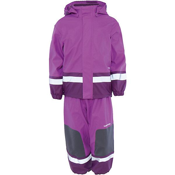 Непромокаемый комплект Boardman: куртка и брюки для девочки DIDRIKSONSВерхняя одежда<br>Характеристики товара:<br><br>• цвет: фиолетовый<br>• материал: 100% полиуретан, подкладка - 100% полиэстер<br>• утеплитель: 60 г/м<br>• температура: от 0° до +7 ° С<br>• непромокаемая ткань<br>• подкладка из флиса<br>• проклеенные швы<br>• регулируемый съемный капюшон<br>• регулируемый пояс брюк<br>• фронтальная молния под планкой<br>• светоотражающие детали<br>• зона коленей усилена дополнительным слоем ткани<br>• грязь легко удаляется с помощью влажной губки или ткани<br>• резинки для ботинок<br>• страна бренда: Швеция<br>• страна производства: Китай<br><br>Такой непромокаемый костюм понадобится в холодную и сырую погоду! Он не только стильный, но еще и очень комфортный. Костюм обеспечит ребенку удобство при прогулках и активном отдыхе в межсезонье или оттепель. Такая модель от шведского производителя легко чистится, она оснащена разными полезными деталями.<br>Материал костюма - непромокаемый, швы дополнительно проклеены. Очень стильная и удобная модель! Изделие качественно выполнено, сделано из безопасных для детей материалов. <br><br>Комплект: куртку и брюки для девочки от бренда DIDRIKSONS можно купить в нашем интернет-магазине.<br><br>Ширина мм: 356<br>Глубина мм: 10<br>Высота мм: 245<br>Вес г: 519<br>Цвет: лиловый<br>Возраст от месяцев: 48<br>Возраст до месяцев: 60<br>Пол: Женский<br>Возраст: Детский<br>Размер: 110,130,120,70,80,90,100<br>SKU: 5212636