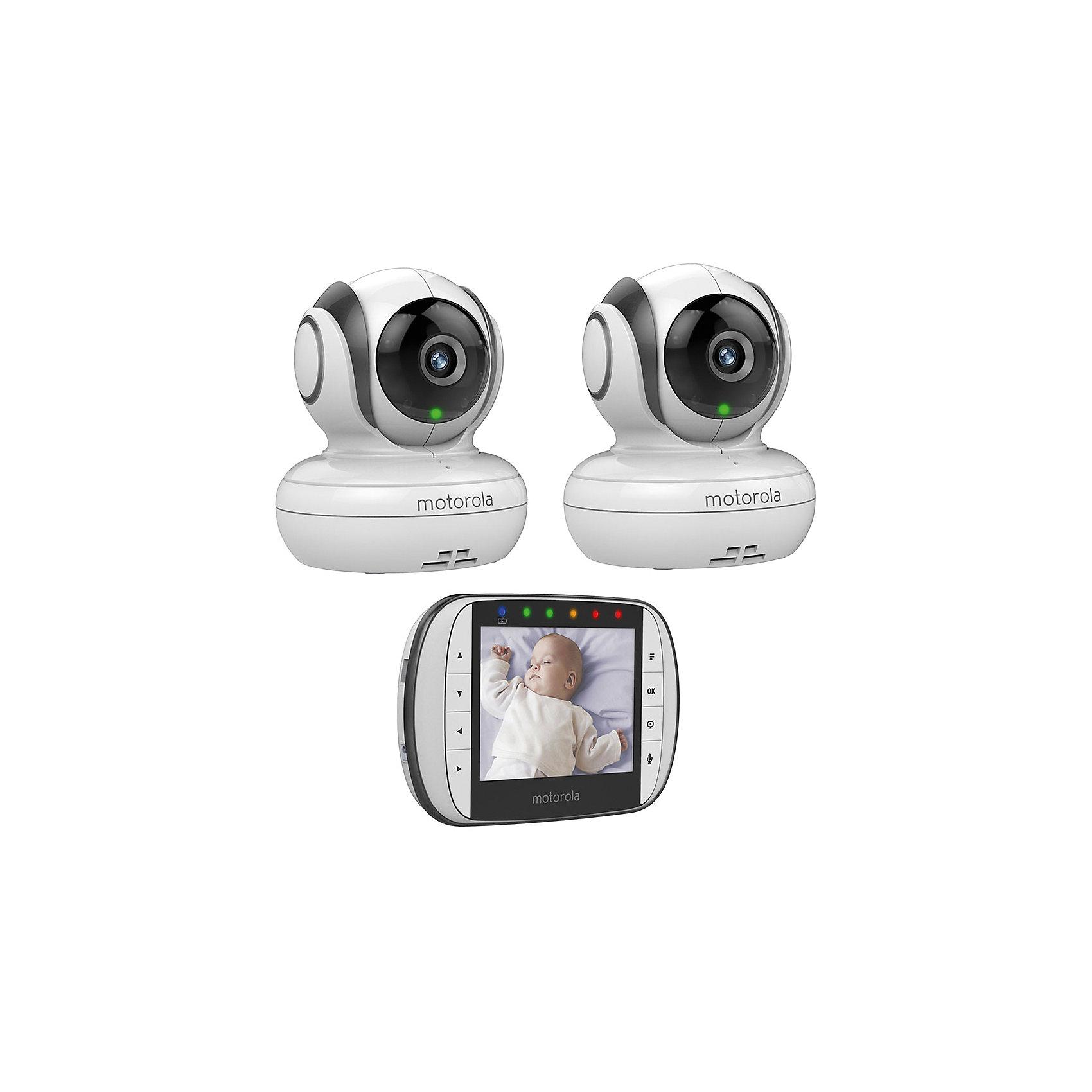Комплект: видеоняня MBP36S+доп.камера MBP36SBU, Motorola<br><br>Ширина мм: 250<br>Глубина мм: 120<br>Высота мм: 250<br>Вес г: 1275<br>Возраст от месяцев: 0<br>Возраст до месяцев: 12<br>Пол: Унисекс<br>Возраст: Детский<br>SKU: 5215498