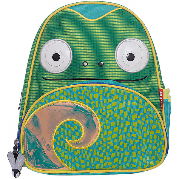 Рюкзак детский Хамелеон, Skip HopДетские рюкзаки<br>Характеристики товара:<br><br>• возраст от 3 лет;<br>• материал: полиэстер;<br>• объем: 8 литров<br>• регулируемые лямки<br>• размер рюкзака 25х29х11 см;<br>• вес рюкзака 270 гр.;<br>• страна производитель: Китай.<br><br>Рюкзак детский «Хамелеон» Skip Hop выполнен в виде забавной божьей коровки с глазками, рожками и передним красным карманом с черными кружочками. На молниях висят брелки в виде мух. Ребенок сможет брать с собой все необходимое на прогулку, в детский садик, в гости, на дачу. В основном отделении поместятся тетради, альбомы, блокноты, карандаши, фломастеры. Спереди кармашек для дополнительных мелочей, а сбоку для бутылочки с напитком или бокса для еды. <br><br>Мягкие регулируемые лямки обеспечивают комфортное ношение. Предусмотрена небольшая ручка для переноски в руках или подвешивания. Рюкзак выполнен из прочной качественной ткани. Его можно стирать в стиральной машине.<br><br>Рюкзак детский «Хамелеон» Skip Hop можно приобрести в нашем интернет-магазине.<br><br>Ширина мм: 334<br>Глубина мм: 294<br>Высота мм: 53<br>Вес г: 319<br>Цвет: зеленый<br>Возраст от месяцев: 24<br>Возраст до месяцев: 72<br>Пол: Унисекс<br>Возраст: Детский<br>SKU: 5215524