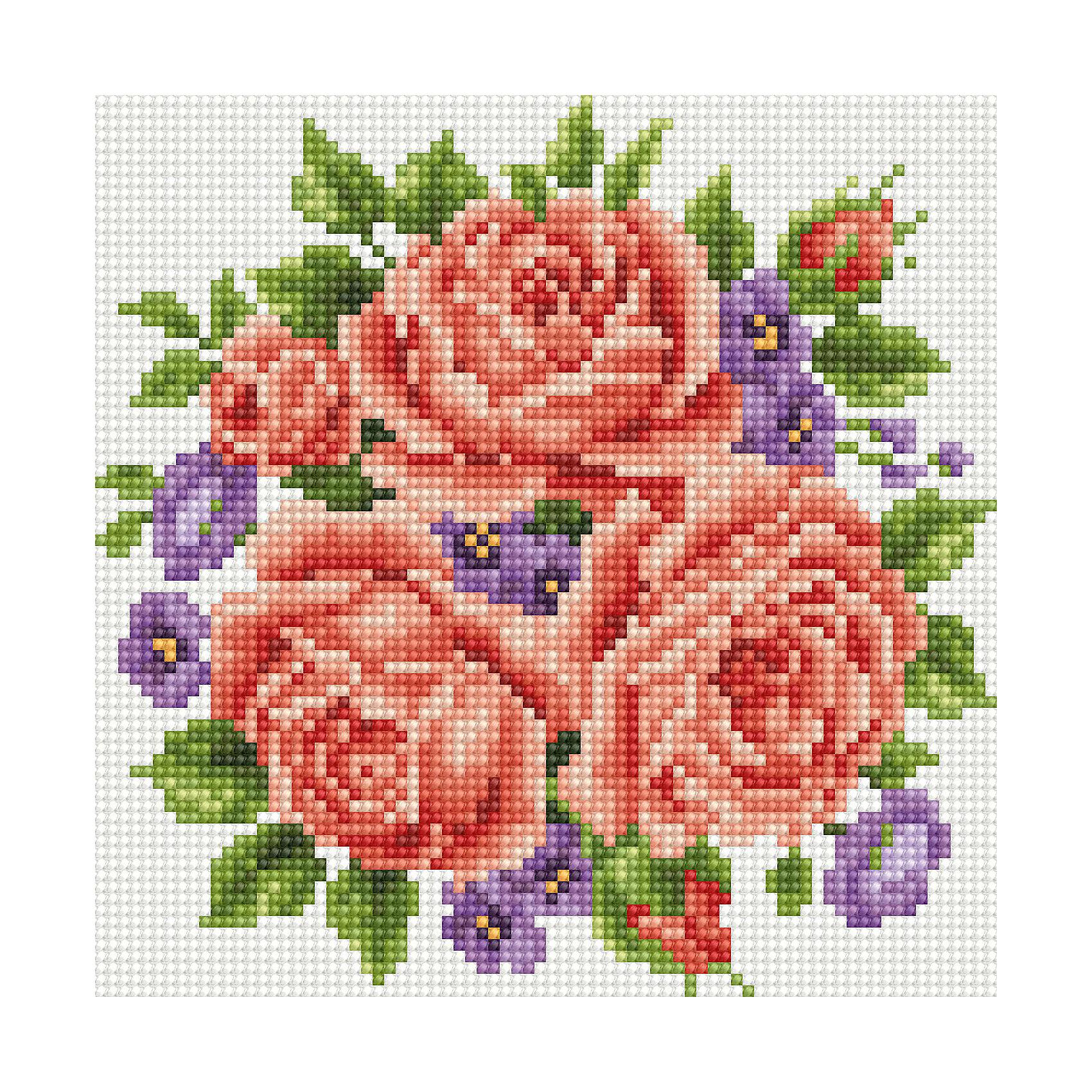 TUKZAR Алмазная мозаика по номерам Красные цветы 20*20 см (на подрамнике) tukzar алмазная мозаика по номерам собака 20х20 см