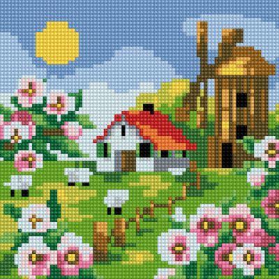 TUKZAR Алмазная мозаика по номерам Весна 20*20 см (на подрамнике)