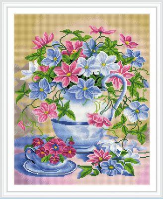 TUKZAR Алмазная мозаика по номерам Нежные цветы 40*50 см (на подрамнике)