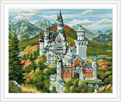 TUKZAR Алмазная мозаика по номерам Замок 40*50 см (на подрамнике)