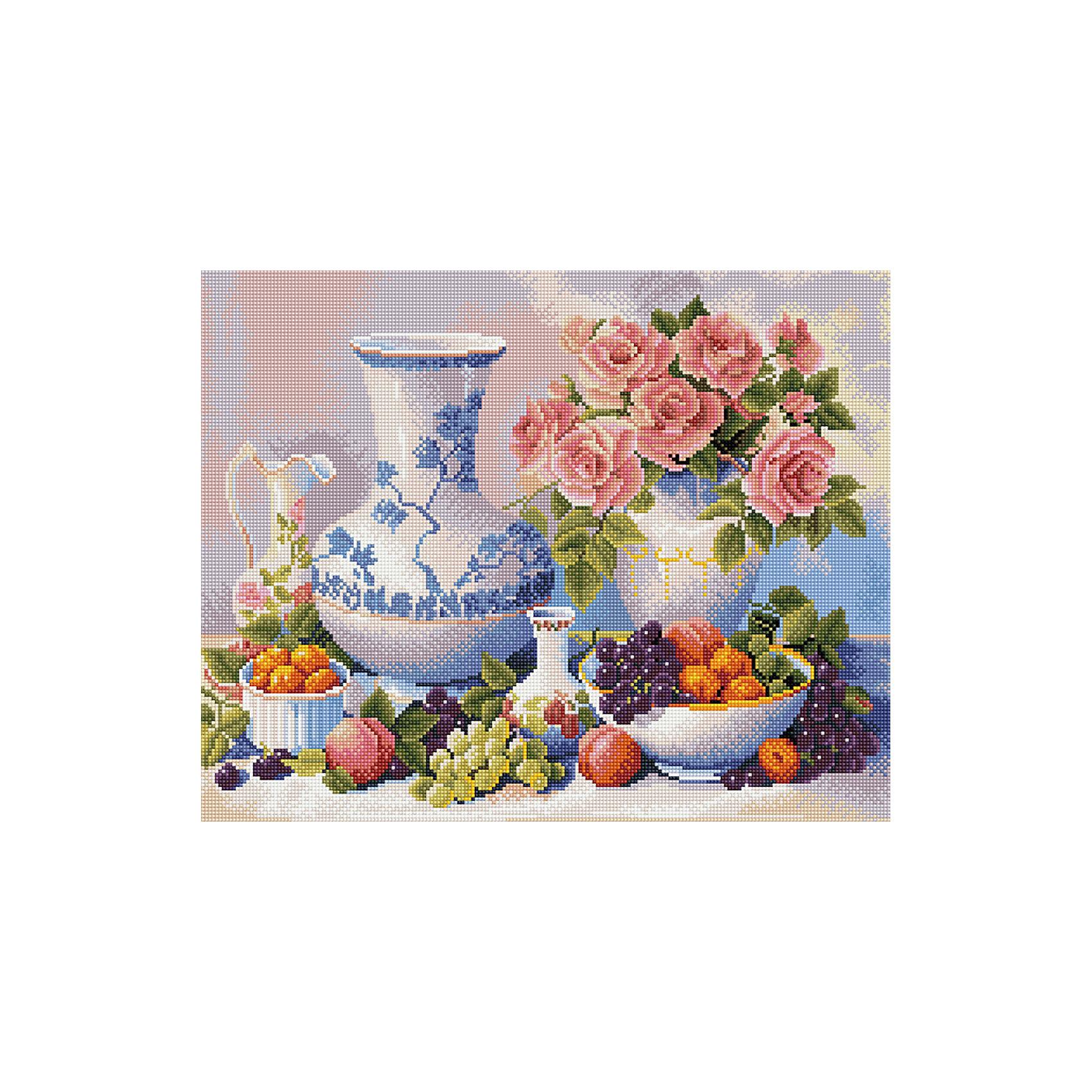 Алмазная мозаика Натюрморт с виноградом 40*50 смХарактеристики товара:<br><br>• размер: 40x50 см<br>• размер упаковки: 42x52х5 см<br>• комплектация: холст 40х50 см, комплект искусственных камней, пинцет, пластмассовый лоток для камней, пластмассовый карандаш для камней, клей<br>• материал: акрил, текстиль, пластик<br>• не требует специальных навыков<br>• для творчества<br>• страна бренда: Российская Федерация<br>• страна производства: Китай<br><br>Алмазная мозаика в настоящий момент очень популярна, и это не удивительно! С помощью подобных наборов можно создавать красивые переливающиеся картины, при этом совсем не обязательно иметь опыт рукоделия. В набор для создания алмазной мозаики входит основа, на которую нужно наклеить небольшие камни - поля пронумерованы, поэтому найти для них правильное место не составит труда. В итоге получается картина, которой можно украсить помещение или подарить кому-то!<br>Набор станет отличным подарком для взрослых и детей. Подобные занятия помогают ребенку развивать важные навыки и способности, они активизирует мышление, формируют усидчивость, логику, абстрактное мышление и воображение. Изделие производится из качественных и проверенных материалов, которые безопасны для детей.<br><br>Алмазную мозаику по номерам Натюрморт с виноградом 40*50 см с прозрачными стразами от бренда Tukzar можно купить в нашем интернет-магазине.<br><br>Ширина мм: 420<br>Глубина мм: 520<br>Высота мм: 50<br>Вес г: 900<br>Возраст от месяцев: 96<br>Возраст до месяцев: 2147483647<br>Пол: Женский<br>Возраст: Детский<br>SKU: 5217123