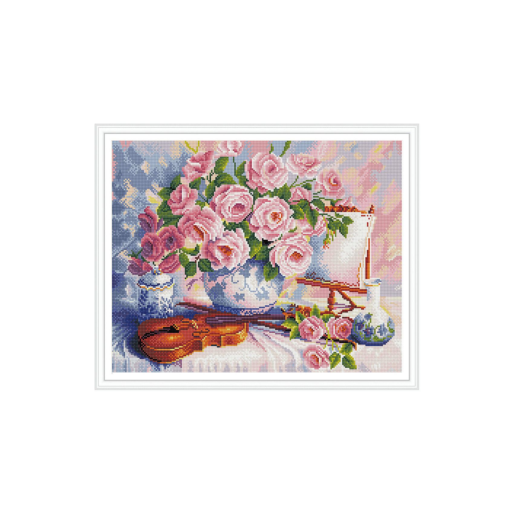 TUKZAR Алмазная мозаика Розы и скрипка 40*50 см наборы для поделок цветной алмазная мозаика олененок