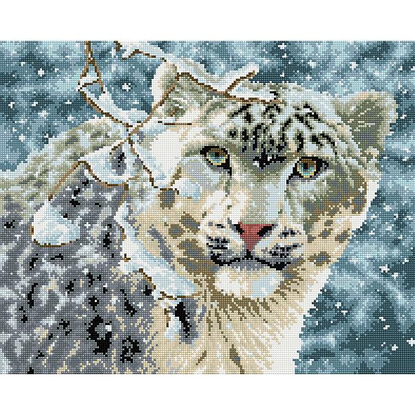Алмазная мозаика Снежный барс 40*50 смАлмазная вышивка<br>Характеристики:<br><br>• Предназначение: для занятий творчеством в технике алмазной живописи<br>• Тематика: Животные<br>• Пол: для девочек<br>• Уровень сложности: средний<br>• Материал: дерево, бумага, акрил, пластик<br>• Цвет: голубой, белый, серый, коричневый, синий, бежевый и др.<br>• Количество цветов: 26<br>• Комплектация: холст на подрамнике, стразы, пинцет, карандаш для камней, клей, лоток для камней, инструкция<br>• Размеры (Ш*Д): 40*50 см<br>• Тип выкладки камней: сплошное заполнение рисунка<br>• Стразы квадратной формы <br>• Вес: 900 г <br>• Упаковка: картонная коробка<br><br>Алмазная мозаика Снежный барс 40*50 см – это набор для создания картины в технике алмазной живописи. Набор для творчества включает в себя холст, на который нанесена схема рисунка, комплекта разноцветных страз квадратной формы, подрамника и инструментов для выкладки узора. Все использованные в наборе материалы экологичные и нетоксичные. Картина выполняется в технике сплошного заполнения декоративными элементами поверхности холста, что обеспечивает высокую реалистичность рисунка. На схеме изображен снежный барс зимой. <br>Готовые наборы для алмазной мозаики – это оптимальный вариант для любителей рукоделия, так как в них предусмотрены все материалы в требуемом для изготовления картины количестве. Занятия алмазной живописью позволят развивать навыки чтения схем, выполнения заданий по образцу, будут способствовать внимательности, терпению и развитию мелкой моторики. <br>Наборы алмазной мозаики могут быть преподнесены в качестве подарка не только девочкам, но и взрослым любительницам рукоделия.<br><br>Алмазную мозаику Снежный барс 40*50 см можно купить в нашем интернет-магазине.<br>Ширина мм: 420; Глубина мм: 520; Высота мм: 50; Вес г: 900; Возраст от месяцев: 96; Возраст до месяцев: 2147483647; Пол: Женский; Возраст: Детский; SKU: 5217141;