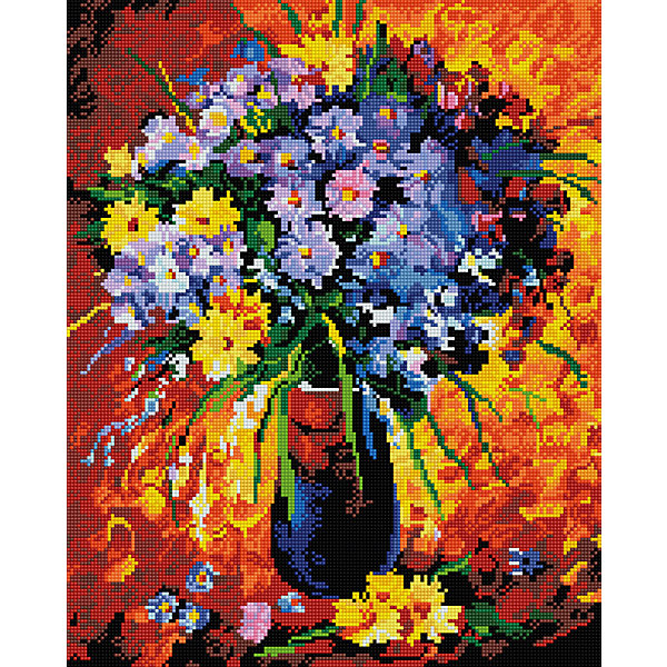 Алмазная мозаика Сиреневый букет 40*50 смПоследняя цена<br>Характеристики:<br><br>• Предназначение: для занятий творчеством в технике алмазной живописи<br>• Тематика: Цветы<br>• Пол: для девочек<br>• Уровень сложности: средний<br>• Материал: дерево, бумага, акрил, пластик<br>• Цвет: красный, оранжевый, желтый, зеленый, сиреневый, синий и др.<br>• Количество цветов: 26<br>• Комплектация: холст на подрамнике, стразы, пинцет, карандаш для камней, клей, лоток для камней, инструкция<br>• Размеры (Ш*Д): 40*50 см<br>• Тип выкладки камней: сплошное заполнение рисунка<br>• Стразы квадратной формы <br>• Вес: 900 г <br>• Упаковка: картонная коробка<br><br>Алмазная мозаика Сиреневый букет 40*50 см – это набор для создания картины в технике алмазной живописи. Набор для творчества включает в себя холст, на который нанесена схема рисунка, комплекта разноцветных страз квадратной формы, подрамника и инструментов для выкладки узора. Все использованные в наборе материалы экологичные и нетоксичные. Картина выполняется в технике сплошного заполнения декоративными элементами поверхности холста, что обеспечивает высокую реалистичность рисунка. На схеме изображен букет из желто-сиреневых цветов. <br>Готовые наборы для алмазной мозаики – это оптимальный вариант для любителей рукоделия, так как в них предусмотрены все материалы в требуемом для изготовления картины количестве. Занятия алмазной живописью позволят развивать навыки чтения схем, выполнения заданий по образцу, будут способствовать внимательности, терпению и развитию мелкой моторики. <br>Наборы алмазной мозаики могут быть преподнесены в качестве подарка не только девочкам, но и взрослым любительницам рукоделия.<br><br>Алмазную мозаику Сиреневый букет 40*50 см можно купить в нашем интернет-магазине.<br><br>Ширина мм: 420<br>Глубина мм: 520<br>Высота мм: 50<br>Вес г: 900<br>Возраст от месяцев: 96<br>Возраст до месяцев: 2147483647<br>Пол: Женский<br>Возраст: Детский<br>SKU: 5217149