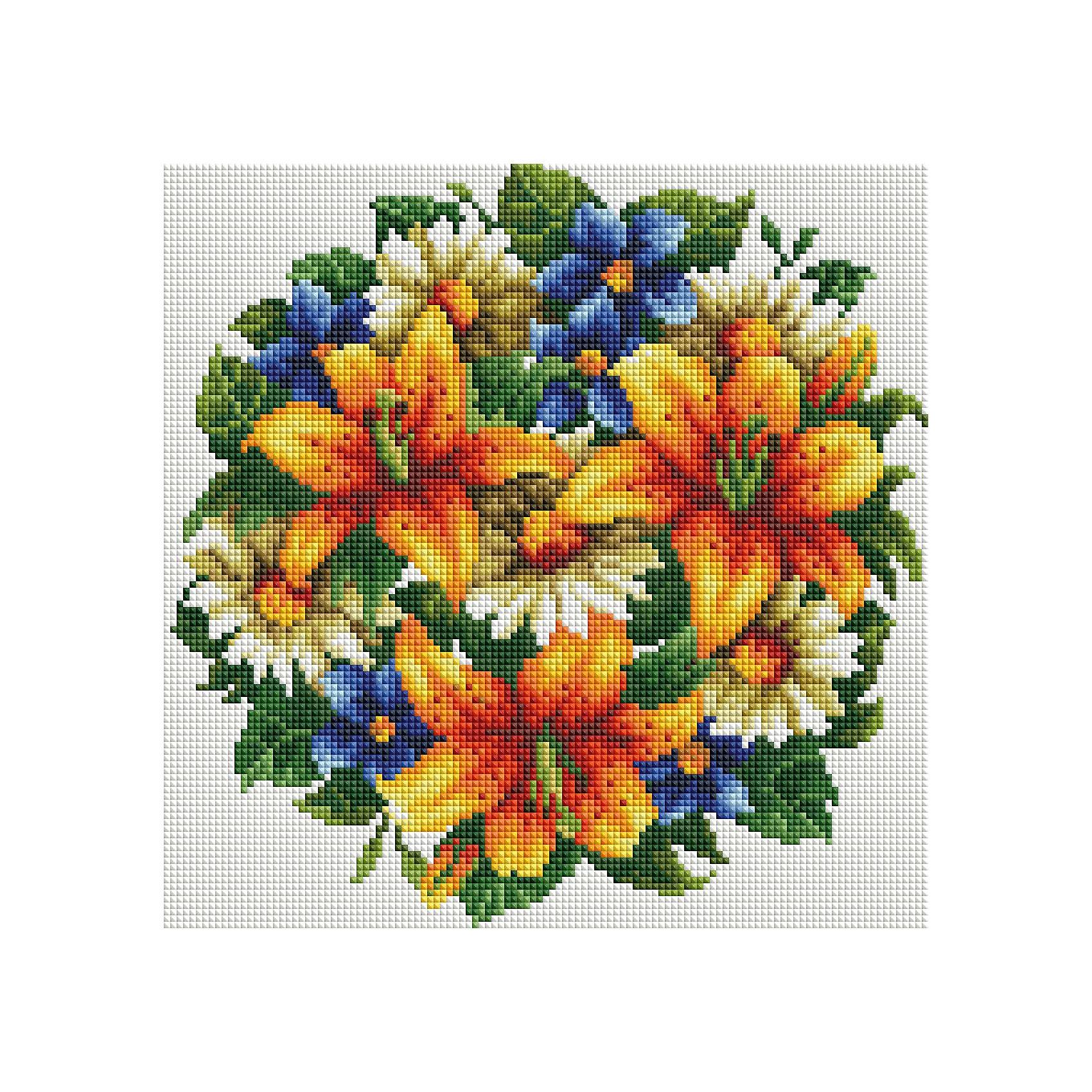 Schreiber Алмазная мозаика Оранжевый букет 30*30 см набор для творчества алмазная мозаика анютины глазки 30 см х 30 см