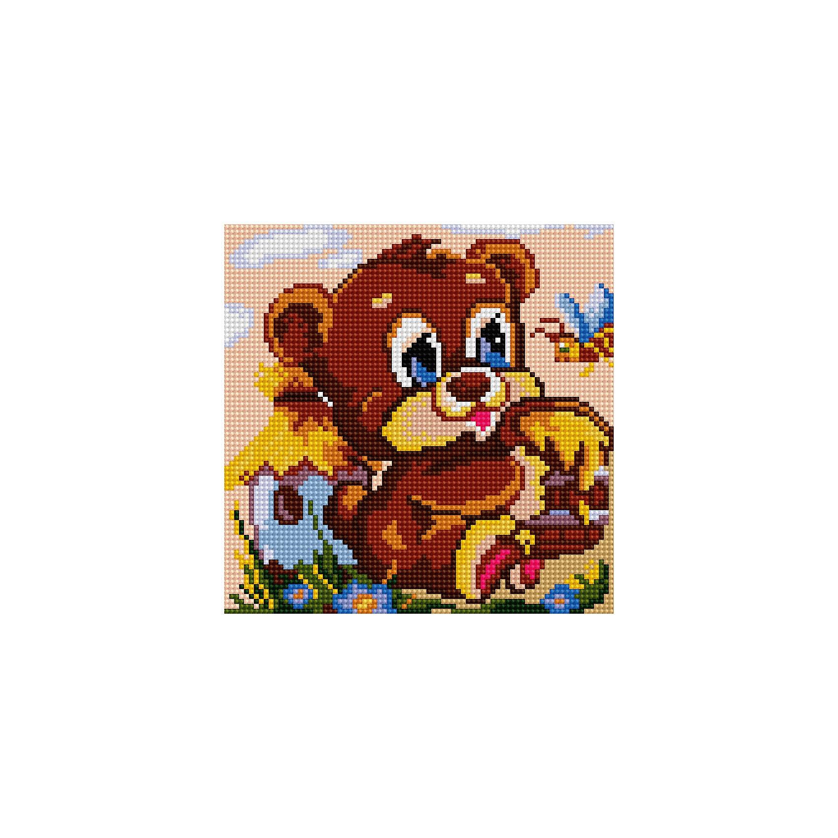 Schreiber Алмазная мозаика по номерами Медвежонок 20*20 см schreiber алмазная мозаика по номерами ежик 20 20 см