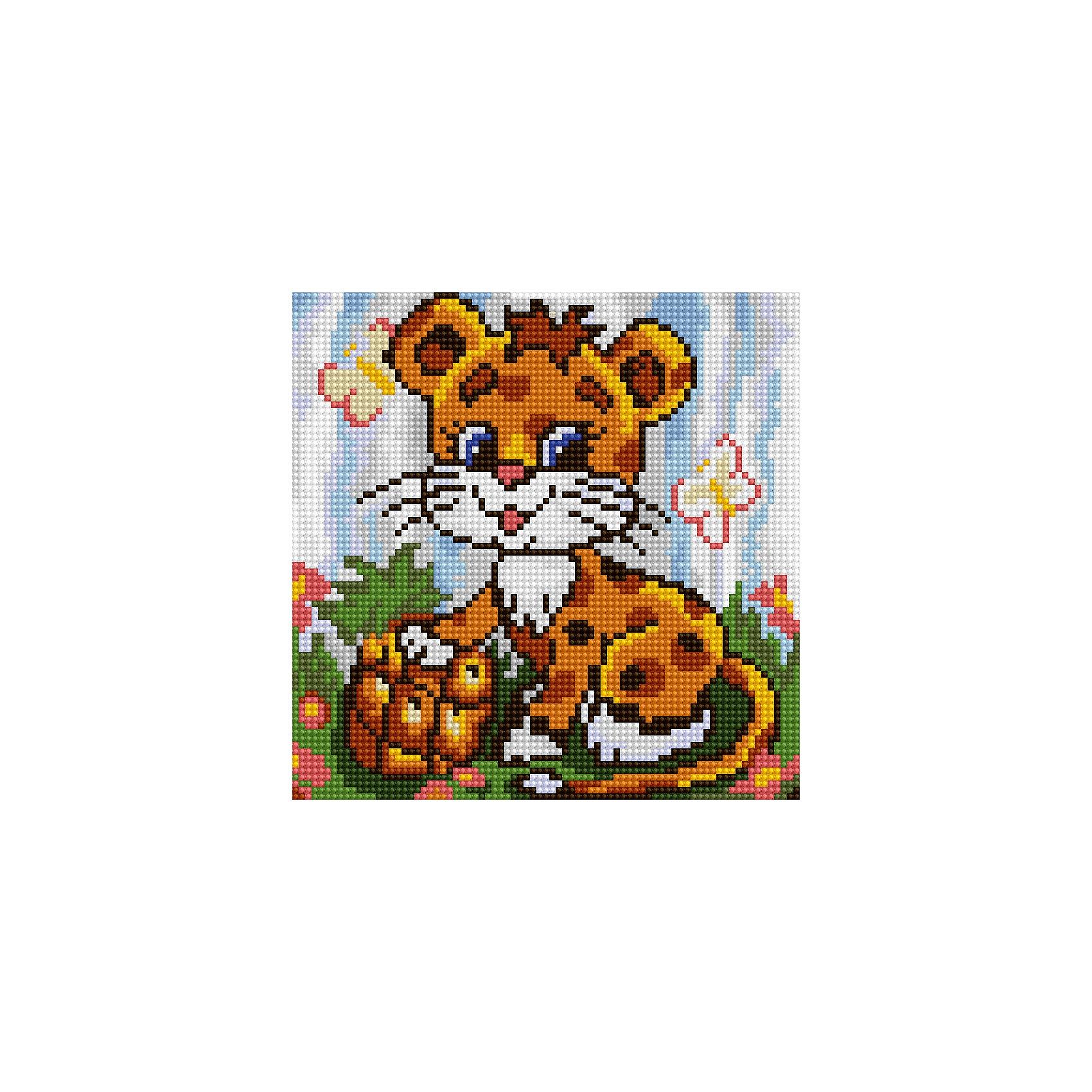 Schreiber Алмазная мозаика по номерами Маленький леопард 20*20 см schreiber алмазная мозаика по номерами белочка 20 20 см
