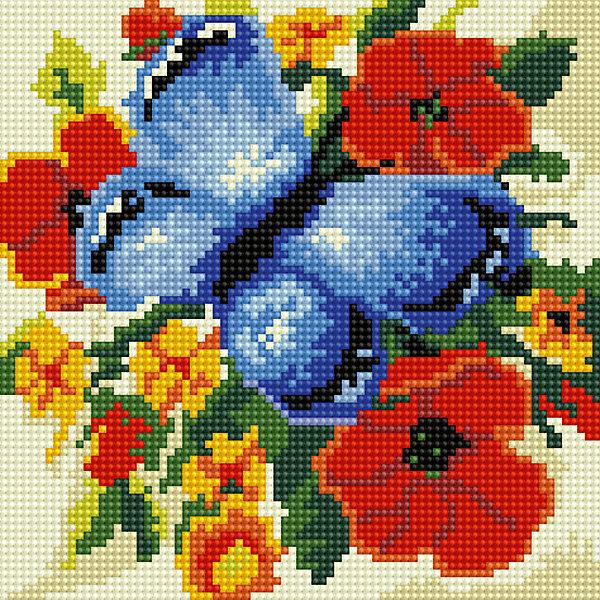 Алмазная мозаика по номерами Синяя бабочка 20*20 смПоследняя цена<br>Алмазная мозаика по номерами Синяя бабочка 20х20 см.<br><br>Характеристика:<br><br>• Материал: пластик, картон.  <br>• Размер упаковки: 22х22х3 см. <br>• Размер готовой картинки: 20х20 см. <br>• Комплектация: холст на подрамнике, искусственные камни, пинцет, пластмассовый лоток, пластмассовый карандаш для приклеивания, клей.<br>• Развивает мелкую моторику, внимание, усидчивость, цветовосприятие. <br><br>Набор для творчества Алмазная мозаика по номерам - отличный подарок на любой праздник, он обязательно понравится детям и поможет развить мелкую моторику, внимание, фантазию и мышление. С этим замечательным набором ваш ребенок сможет собрать яркую переливающуюся картинку, которая украсит стену в детской или же станет прекрасным памятным сувениром, сделанным своими руками. Нужно лишь наклеить цветные камушки на картонную основу с уже нанесенным контурным рисунком - и маленький шедевр готов!  <br><br>Алмазную мозаику по номерами Синяя бабочка 20х20 см, можно купить в нашем интернет-магазине.<br><br>Ширина мм: 220<br>Глубина мм: 220<br>Высота мм: 30<br>Вес г: 900<br>Возраст от месяцев: 96<br>Возраст до месяцев: 2147483647<br>Пол: Женский<br>Возраст: Детский<br>SKU: 5217175