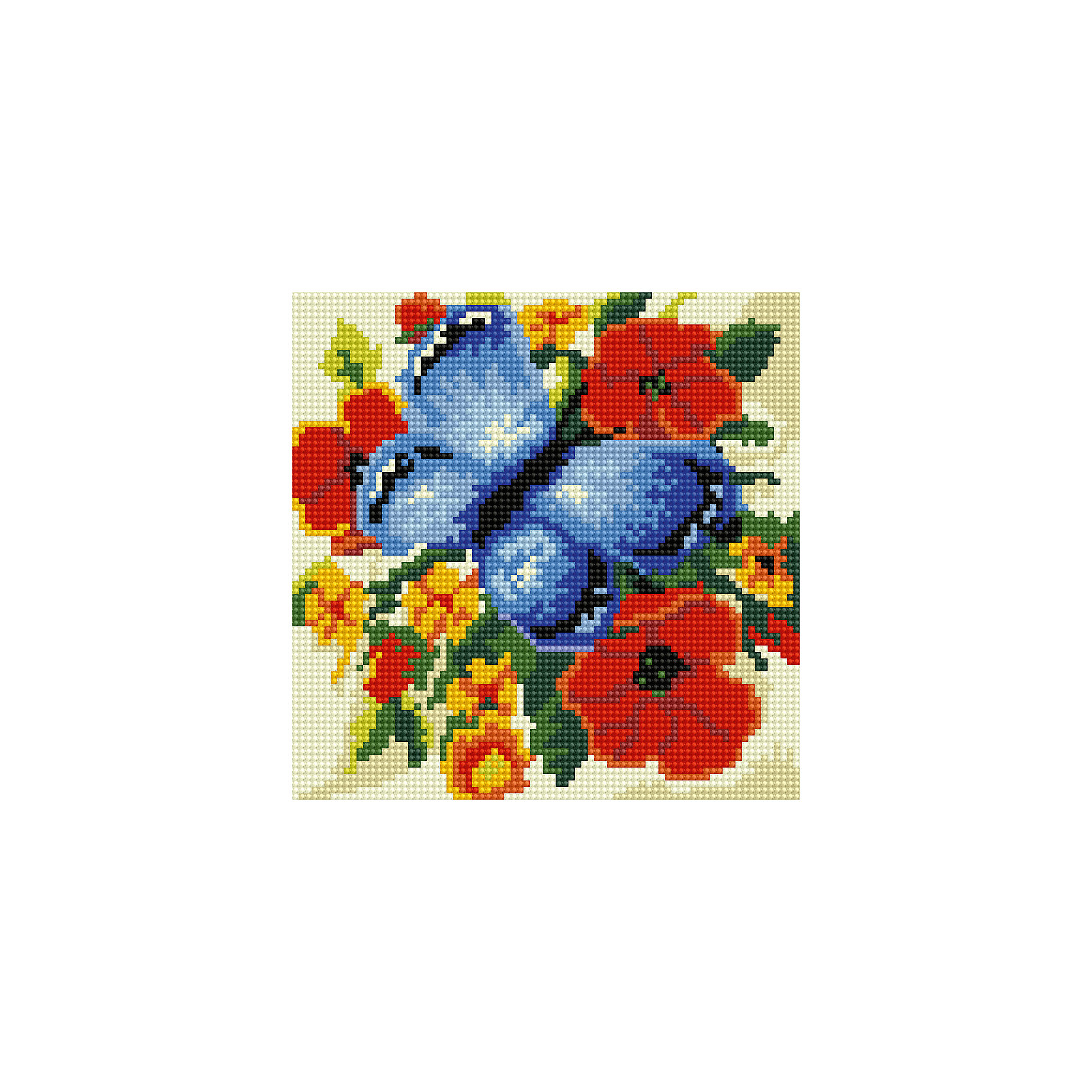 Schreiber Алмазная мозаика по номерами Синяя бабочка 20*20 см schreiber алмазная мозаика по номерами ежик 20 20 см