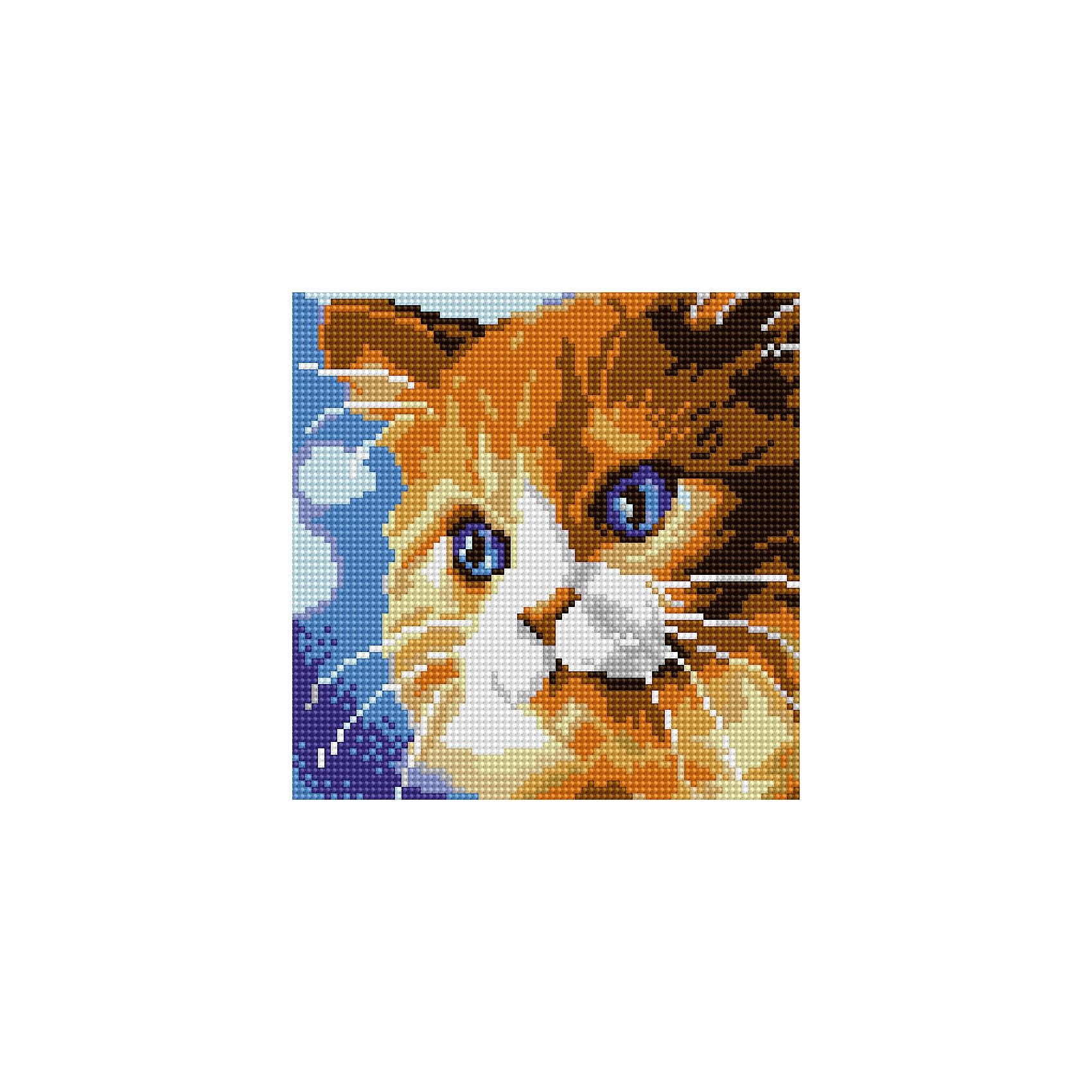 Schreiber Алмазная мозаика по номерами Рыжий кот 20*20 см schreiber алмазная мозаика по номерами ежик 20 20 см