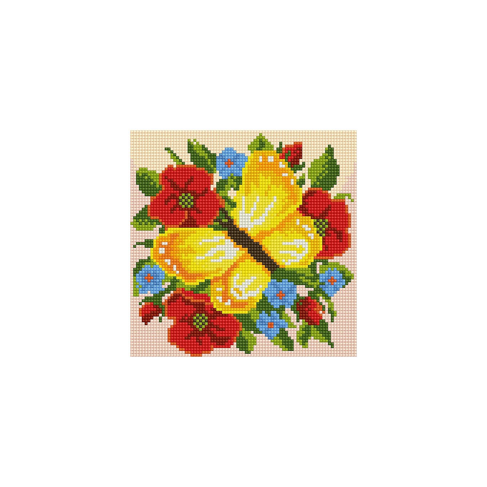 Алмазная мозаика по номерами Желтая бабочка 20*20 смАлмазная мозаика по номерами Желтая бабочка 20х20 см.<br><br>Характеристика:<br><br>• Материал: пластик, картон.  <br>• Размер упаковки: 22х22х3 см. <br>• Размер готовой картинки: 20х20 см. <br>• Комплектация: холст на подрамнике, искусственные камни, пинцет, пластмассовый лоток, пластмассовый карандаш для приклеивания, клей.<br>• Развивает мелкую моторику, внимание, усидчивость, цветовосприятие. <br><br>Набор для творчества Алмазная мозаика по номерам - отличный подарок на любой праздник, он обязательно понравится детям и поможет развить мелкую моторику, внимание, фантазию и мышление. С этим замечательным набором ваш ребенок сможет собрать яркую переливающуюся картинку, которая украсит стену в детской или же станет прекрасным памятным сувениром, сделанным своими руками. Нужно лишь наклеить цветные камушки на картонную основу с уже нанесенным контурным рисунком - и маленький шедевр готов!  <br><br>Алмазную мозаику по номерами Желтая бабочка 20х20 см, можно купить в нашем интернет-магазине.<br><br>Ширина мм: 220<br>Глубина мм: 220<br>Высота мм: 30<br>Вес г: 900<br>Возраст от месяцев: 96<br>Возраст до месяцев: 2147483647<br>Пол: Женский<br>Возраст: Детский<br>SKU: 5217180