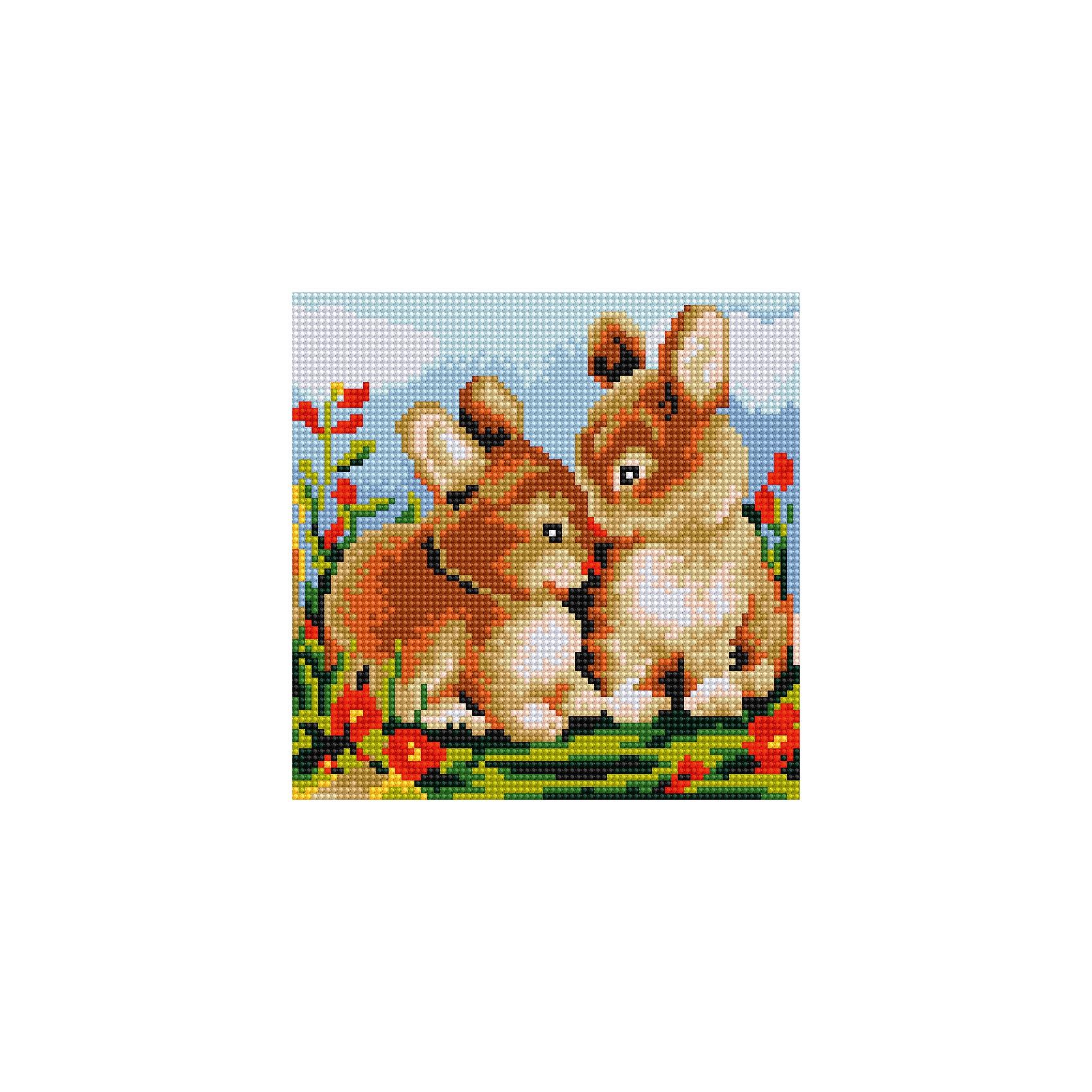Schreiber Алмазная мозаика по номерами Кролики 20*20 см schreiber алмазная мозаика по номерами ежик 20 20 см