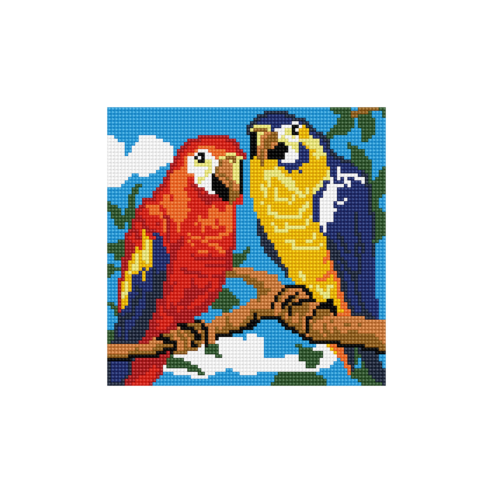 Schreiber Алмазная мозаика по номерами Попугаи 20*20 см schreiber алмазная мозаика по номерами ежик 20 20 см