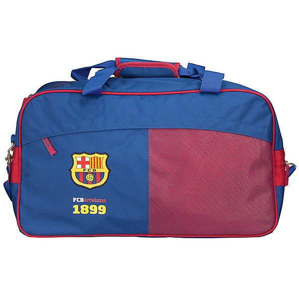 Сумка спортивная, Barcelona FCЧемоданы и дорожные сумки<br>Характеристики спортивной сумки, Barcelona FC:<br><br>- размер 30 * 27 * 52 см. <br>- пол: для мальчиков<br>- материал: текстиль.<br><br>Спортивная сумка Barcelona FC– вместительная и удобная, прекрасно подойдет для поездок, спортивных занятий или  для повседневных целей. Сумка с одним отделением, легко застегивается на замок-молнию. Спортивная сумка состоит из одного большого отделения с внутренним и внешним карманами, ее материал прочный и качественный. Ручки, изготовлены из текстиля для переноски сумки в руке, а так же пристегивается съемная шлейка на плечо (регулируется по длине).<br><br>Спортивную сумку  Barcelona FC можно купить в нашем интернет-магазине.<br>Ширина мм: 270; Глубина мм: 300; Высота мм: 520; Вес г: 875; Возраст от месяцев: 156; Возраст до месяцев: 180; Пол: Мужской; Возраст: Детский; SKU: 5218399;