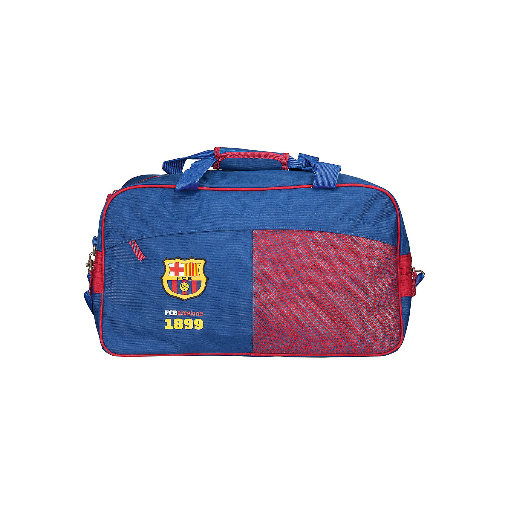 Сумка спортивная, Barcelona FCХарактеристики спортивной сумки, Barcelona FC:<br><br>- размер 30 * 27 * 52 см. <br>- пол: для мальчиков<br>- материал: текстиль.<br><br>Спортивная сумка Barcelona FC– вместительная и удобная, прекрасно подойдет для поездок, спортивных занятий или  для повседневных целей. Сумка с одним отделением, легко застегивается на замок-молнию. Спортивная сумка состоит из одного большого отделения с внутренним и внешним карманами, ее материал прочный и качественный. Ручки, изготовлены из текстиля для переноски сумки в руке, а так же пристегивается съемная шлейка на плечо (регулируется по длине).<br><br>Спортивную сумку  Barcelona FC можно купить в нашем интернет-магазине.<br><br>Ширина мм: 270<br>Глубина мм: 300<br>Высота мм: 520<br>Вес г: 875<br>Возраст от месяцев: 156<br>Возраст до месяцев: 180<br>Пол: Мужской<br>Возраст: Детский<br>SKU: 5218399