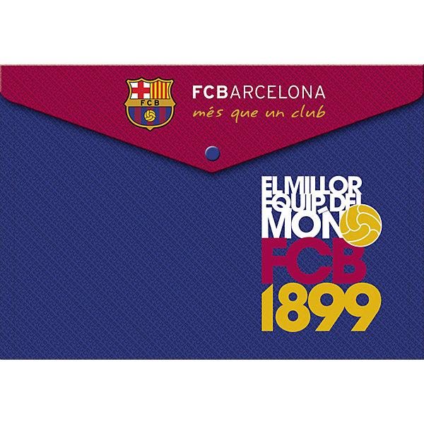 Пластиковая папка-конверт с застежкой, BarcelonaПапки для тетрадей<br>Характеристики пластиковой папки-конверта с застежкой, Barcelona:<br><br>- толщина - 0,15 мм.<br>- печать на корпусе - полноцветная, офсетная.<br>- цвет: синий<br>- размер 23,5 * 33 * 0,5 см<br>- принт: Barcelona FC.<br><br>Пластиковая папка-конверт с застежкой будет незаменима при использовании хранения документов, рисунков или рабочих тетрадей Вашего ребенка, включая формат А 4. Изделие изготовлено из качественного пластика, толщиной 0,15 мм.Имеется яркая печать на рисунке.<br><br>Пластиковую папку-конверт с застежкой, Barcelona можно купить в нашем интернет-магазине.<br><br>Ширина мм: 330<br>Глубина мм: 5<br>Высота мм: 235<br>Вес г: 25<br>Возраст от месяцев: 156<br>Возраст до месяцев: 180<br>Пол: Мужской<br>Возраст: Детский<br>SKU: 5218401