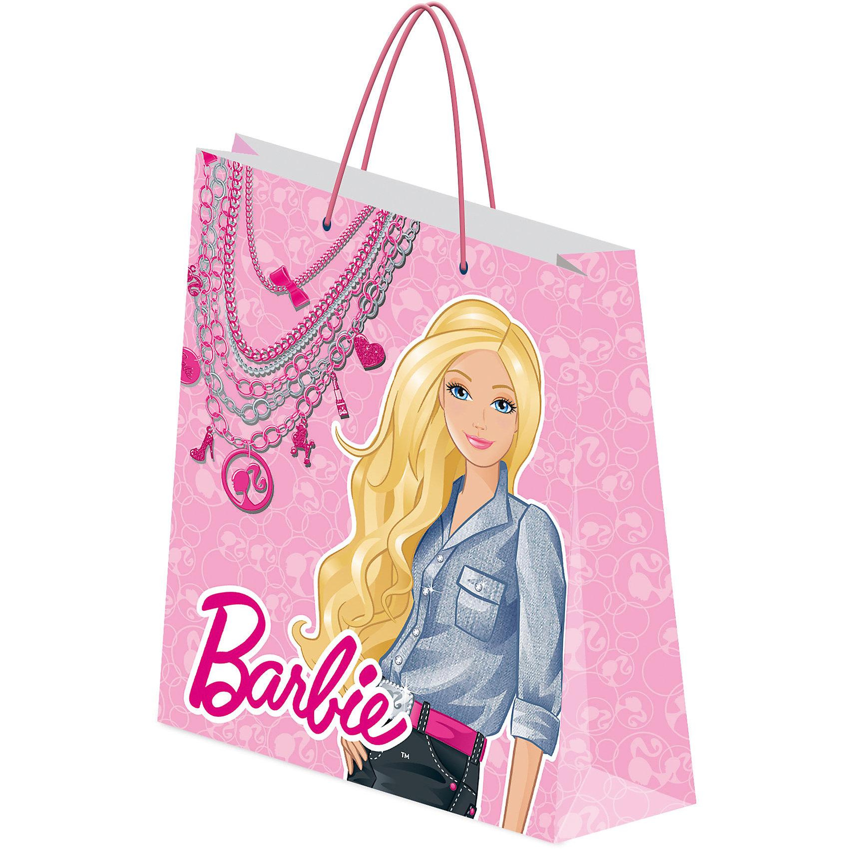 Академия групп Пакет подарочный 28*34*9 см, Barbie росмэн пакет подарочный мои питомцы 230х180х100 barbie