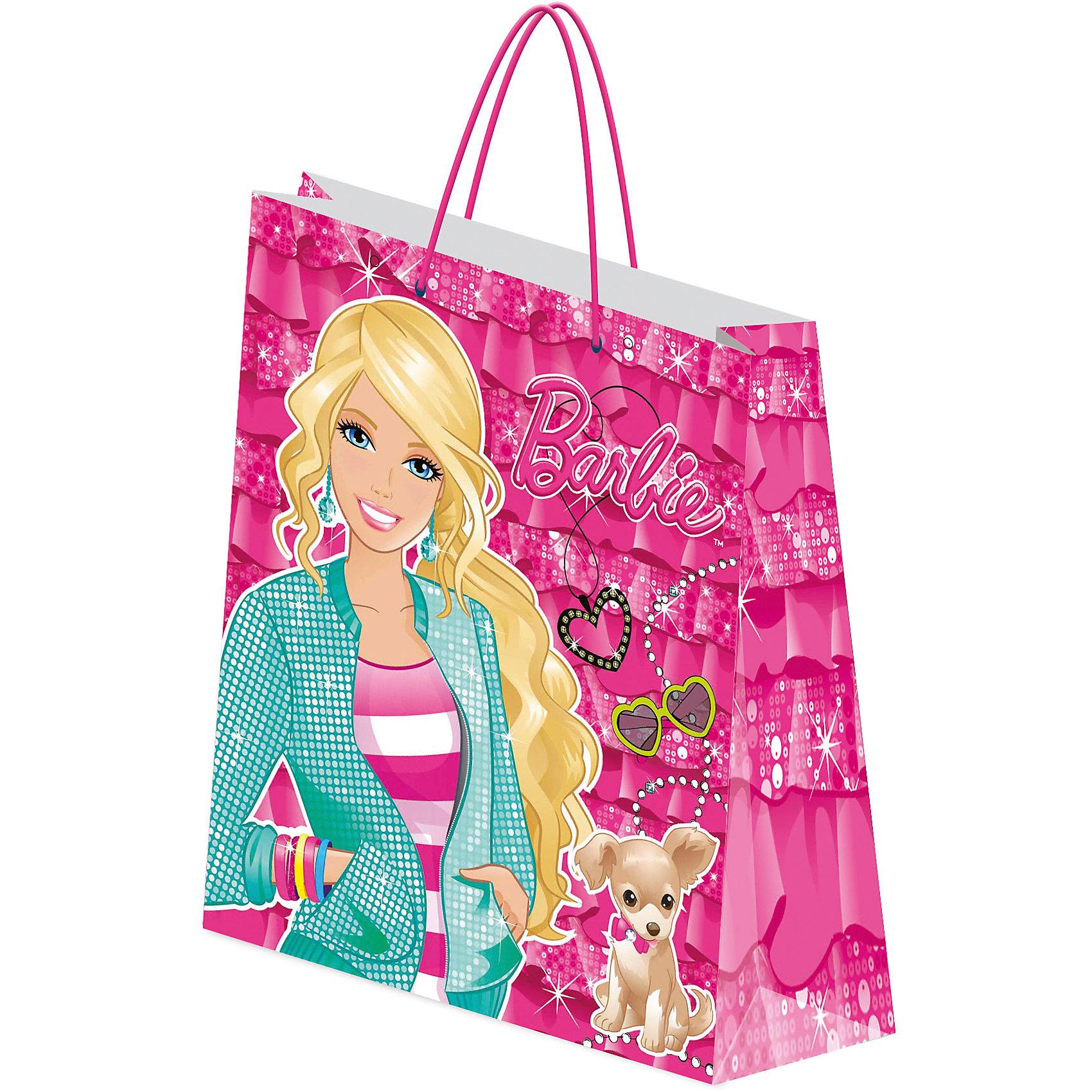 Пакет подарочный 28*34*9 см, BarbieХарактеристики подарочного пакета, Barbie:<br><br>- возраст: от 3 лет<br>- пол: для девочек<br>- материал: картон <br>- размер игрушки: 28*34*9 см.<br>- страна обладатель бренда: Россия.<br><br>Яркий пакет с очаровательной Барби великолепно украсит любой подарок для Вашей малышки. Подарочный бумажный пакет Barbie имеет бумажные ручки и декорирован ярким принтом.<br><br>Пакет подарочный, Barbie можно купить в нашем интернет-магазине.<br><br>Ширина мм: 280<br>Глубина мм: 90<br>Высота мм: 340<br>Вес г: 62<br>Возраст от месяцев: 96<br>Возраст до месяцев: 108<br>Пол: Женский<br>Возраст: Детский<br>SKU: 5218404