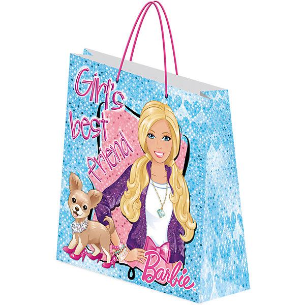 Пакет подарочный 28*34*9 см, BarbieBarbie<br>Характеристики подарочного пакета, Barbie:<br><br>- возраст: от 3 лет<br>- пол: для девочек<br>- материал: картон <br>- размер игрушки: 28*34*9 см.<br>- страна обладатель бренда: Россия.<br><br>Подарочный пакет Barbie станет неотъемлемой частью детского подарка. Красочный пакет принесет Вашему ребенку радость и ему будет интересно заглянуть в него, чтобы узнать, что приготовили родные ему на день рождения или на любой другой праздник. На пакете изображена Барби – известная красотка американской торговой марки Mattel для детей дошкольного возраста.<br><br>Пакет подарочный, Barbie можно купить в нашем интернет-магазине.<br><br>Ширина мм: 340<br>Глубина мм: 280<br>Высота мм: 5<br>Вес г: 65<br>Возраст от месяцев: 96<br>Возраст до месяцев: 108<br>Пол: Женский<br>Возраст: Детский<br>SKU: 5218408