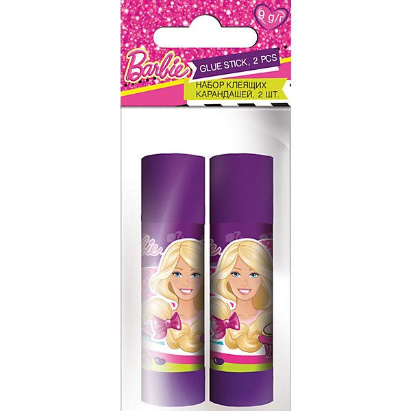 Набор клей-карандашей (2 шт.), BarbieBarbie<br>Набор клей-карандашей (2 шт.), Barbie (Барби).<br><br>Характеристики:<br><br>- Размер: 12х5х2 см<br>- В наборе: 2 клея – карандаша.<br>- Масса: 9 г.<br><br>Клей-карандаш незаменим в школе и дома. С его помощью можно создавать  поделки и аппликации. Легко наносится, надежно склеивает бумагу и картон, не деформируя поверхность. Клей – карандаш имеет выкручивающий  механизм, который обеспечивает постепенное выдвижение клеящего стержня из пластикового корпуса, оформленного изображениями любимых Барби. В комплекте 2 клей-карандаша. <br><br>Набор клей-карандашей (2 шт.), Barbie (Барби), можно купить в нашем интернет- магазине.<br>Ширина мм: 20; Глубина мм: 50; Высота мм: 120; Вес г: 44; Возраст от месяцев: 96; Возраст до месяцев: 108; Пол: Женский; Возраст: Детский; SKU: 5218411;