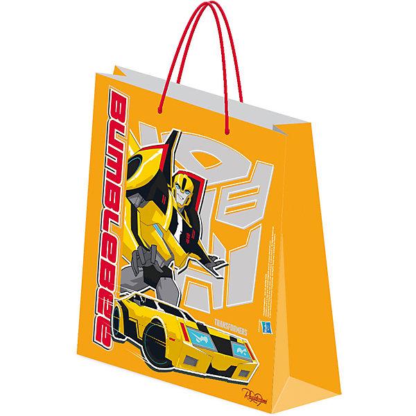 Пакет бумажный подарочный, ТрансформерыДетские подарочные пакеты<br>Пакет подарочный.<br><br>Характеристики:<br><br>- Размер упаковки: 18х21х8,5 см.<br>- Вес: 34г.<br><br>Подарочный пакет станет замечательным аксессуаром для детского праздника или тематической вечеринки. С его помощью Вы сможете красиво оформить подарки, памятные сувениры или сюрпризы для конкурсов. Пакет выполнен из плотной бумаги с эффектом матовой ламинации и украшен изображением популярных персонажей фильма Трансформеры. <br><br>Пакет подарочный , можно купить в нашем интернет- магазине.<br><br>Ширина мм: 2<br>Глубина мм: 180<br>Высота мм: 210<br>Вес г: 34<br>Возраст от месяцев: 96<br>Возраст до месяцев: 108<br>Пол: Мужской<br>Возраст: Детский<br>SKU: 5218422