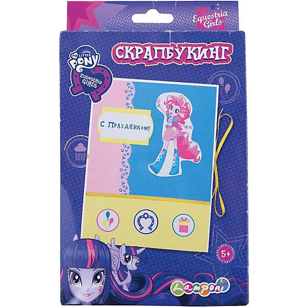 Набор для детского творчества Скрапбукинг, Equestria GirlsMy little Pony<br>Набор для детского творчества Скрапбукинг, Equestria Girls (Эквестрия Гёлз).<br><br>Характеристики:<br><br>- Размер упаковки: 24,5х18х15 см.<br>- В наборе: картонная основа, клей, декоративные элементы, ленты атласные, инструкция..<br><br>Скрапбукинг является видом рукодельного искусства, при котором любой желающий изготавливает и оформляет открытку, рассказывающую истории в виде изображений, фотографий, записей, газетных вырезок и других вещей, которые имеют памятную ценность.                                                                                             Данный набор помогает формированию усидчивости, внимательности, старательности и аккуратности. Развивает мелкую моторику рук. Набор для детского творчества «Скрапбукинг», Equestria Girls (Эквестрия Гёлз)  станет отличным подарком для вашей девочки, любительницы одноименного мультсериала.  <br><br>Набор для детского творчества Скрапбукинг, Equestria Girls (Эквестрия Гёлз), можно купить в нашем интернет- магазине.<br>Ширина мм: 245; Глубина мм: 150; Высота мм: 18; Вес г: 100; Возраст от месяцев: 96; Возраст до месяцев: 108; Пол: Женский; Возраст: Детский; SKU: 5218424;