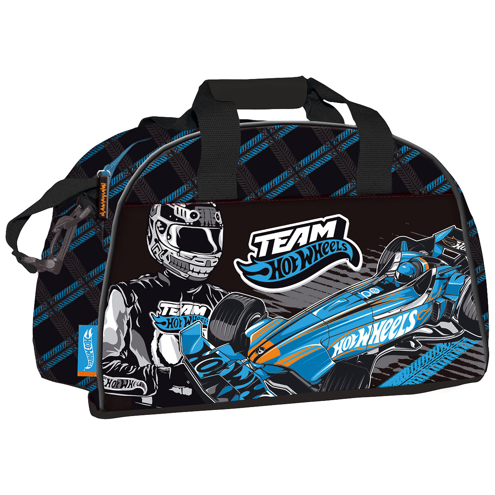 Сумка спортивная, Hot WheelsСпортивные сумки<br>Сумка спортивная, Hot Wheels (Хот Вилз).   <br><br>Характеристики:<br><br>- Размеры: 26х40х22 см<br>- Вес: 561 г<br>- Цвет: черный с голубым принтом.<br><br>Удобная, вместительная сумка для похода в спортивные секции. Такую сумку также  можно  использовать, как дорожную, что особенно удобно  в летний период времени, когда дети уезжают в санатории и лагеря. Такая сумка порадует каждого мальчика. Сумка спортивная из прочного, водонепроницаемого материала. Предусмотрены две текстильные ручки для переноски в руке и большой ремень для ношения сумки на плече. Закрывается сумка на замок – молнию. Сумка декорирована героями Hot Wheels (Хот Вилз).   <br><br>Сумку спортивную, Hot Wheels (Хот Вилз), можно купить в нашем интернет – магазине.<br><br>Ширина мм: 260<br>Глубина мм: 400<br>Высота мм: 220<br>Вес г: 561<br>Возраст от месяцев: 96<br>Возраст до месяцев: 108<br>Пол: Мужской<br>Возраст: Детский<br>SKU: 5218427