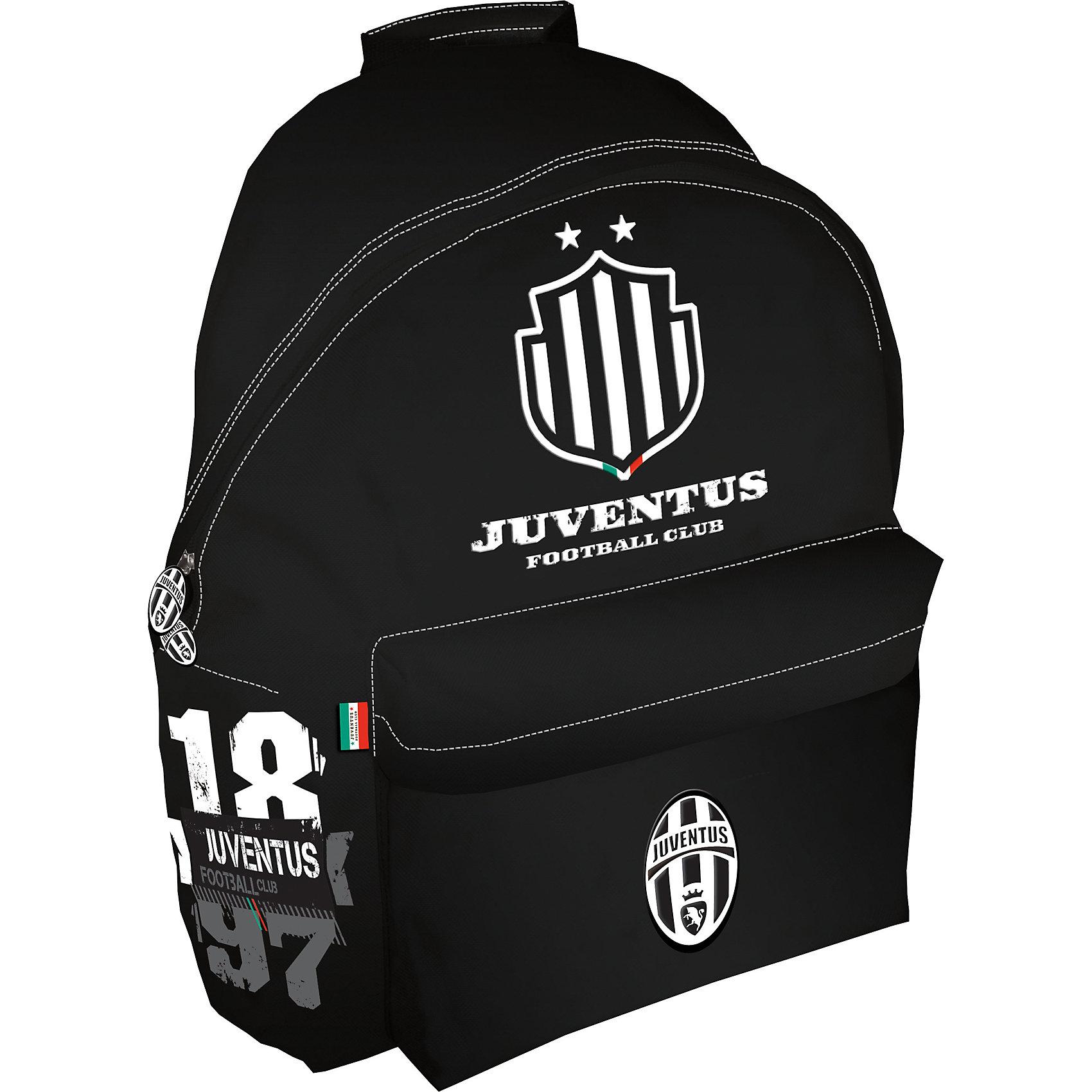 Рюкзак 36*25*12 см, JuventusРюкзаки<br>Рюкзак  Juventus (Ювентус).<br><br>Характеристики:<br><br>- Размеры: 40х31х15 см<br>- Вес: 484г<br>- Цвет: черный.<br><br>Удобный, вместительный рюкзак для похода в спортивные секции. Такой рюкзак также  можно  использовать, как дорожный, что особенно удобно  в летний период времени, когда дети уезжают в санатории и лагеря. Такой рюкзак порадует каждого мальчика. Основной отдел на молнии, вместительный наружный карман на скрытой молнии, один внутренний накладной карман на молнии. Рюкзак декорирован эмблемами и цветами спортивного клуба Juventus (Ювентус) .   <br><br>Рюкзак Juventus (Ювентус), можно купить в нашем интернет – магазине.<br><br>Ширина мм: 310<br>Глубина мм: 150<br>Высота мм: 400<br>Вес г: 484<br>Возраст от месяцев: 72<br>Возраст до месяцев: 192<br>Пол: Мужской<br>Возраст: Детский<br>SKU: 5218430