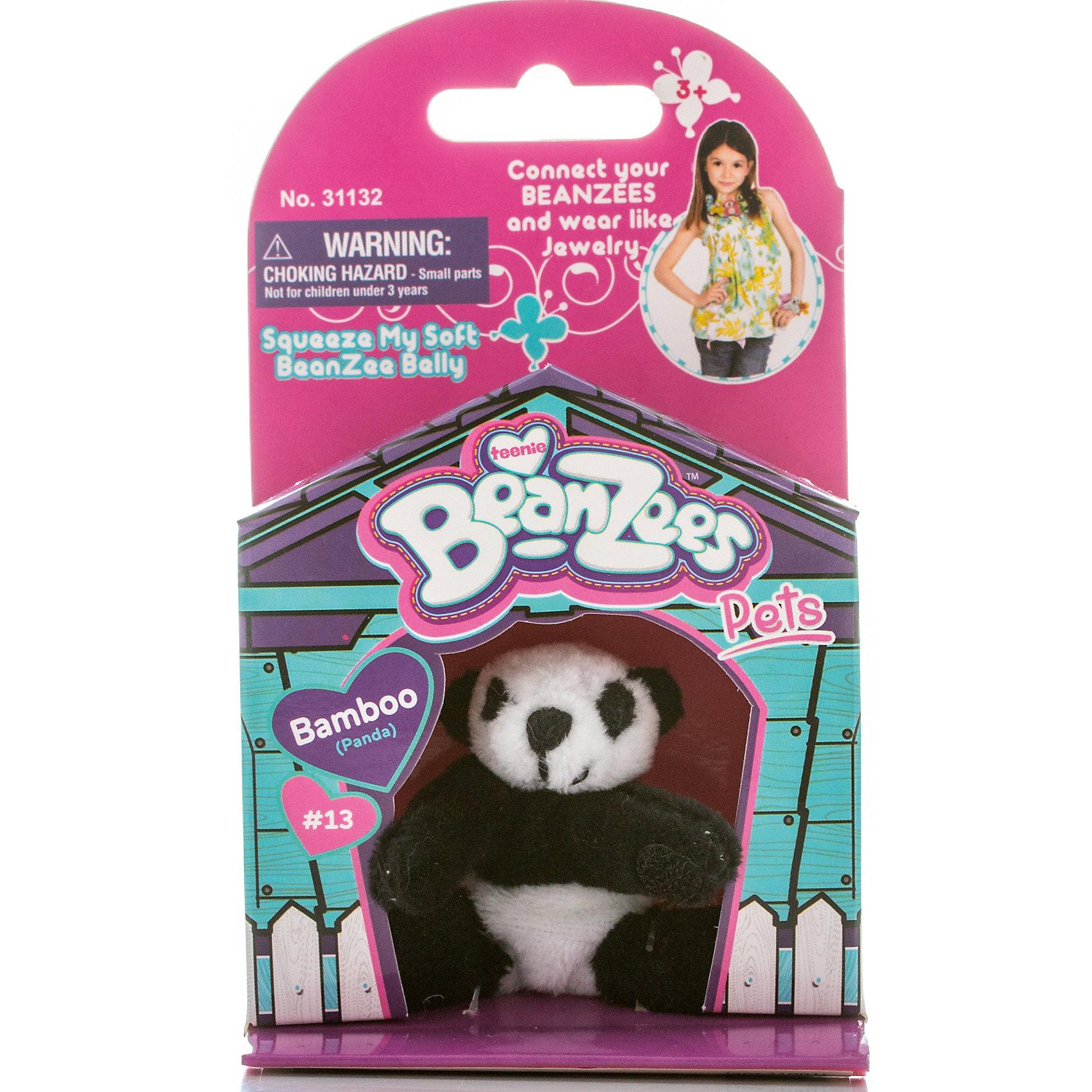 Beanzeez Мини-плюш Панда, Beanzeez 4moms электронное mamaroo 3 0 серый плюш