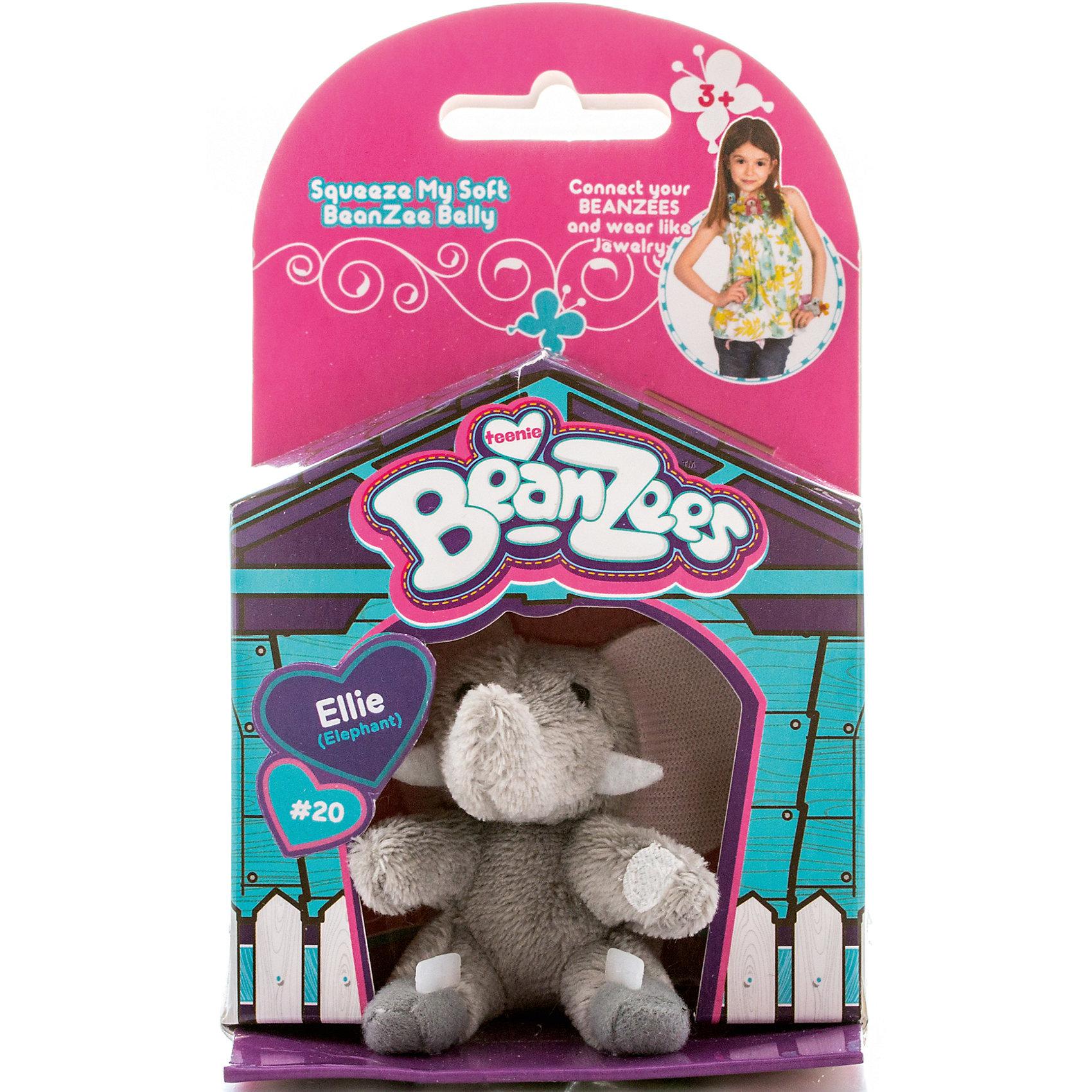 Мини-плюш Серый слон, BeanzeezХарактеристики товара:<br><br>• цвет: серый<br>• особенности: наличие на лапках липучек, игрушку можно соединять с другими героями из серии<br>• материал: пластик, текстиль<br>• размер упаковки: 9х5,5х14,5 см.<br>• высота игрушки: 5 см<br>• возраст: от 3 лет<br>• страна бренда: США<br>• страна производства: Китай<br><br>Такая симпатичная игрушка не оставит ребенка равнодушным! Какой малыш откажется поиграть с маленькими плюшевыми игрушками из большой пушистой коллекции?! Игрушки очень качественно выполнены, поэтому такая фигурка станет отличным подарком ребенку. Благодаря липучкам на лапках животных можно соединить между собой. Дети приходят в восторг от этих игрушек!<br>Такие предметы помогают ребенку отрабатывать новые навыки и способности - развивать ловкость, мелкую моторику, воображение, мышление, логику. Изделие производится из качественных сертифицированных материалов, безопасных даже для самых маленьких.<br><br>Мини-плюш Серый слон от бренда Beanzeez можно купить в нашем интернет-магазине.<br><br>Ширина мм: 50<br>Глубина мм: 140<br>Высота мм: 85<br>Вес г: 73<br>Возраст от месяцев: 36<br>Возраст до месяцев: 2147483647<br>Пол: Женский<br>Возраст: Детский<br>SKU: 5218668