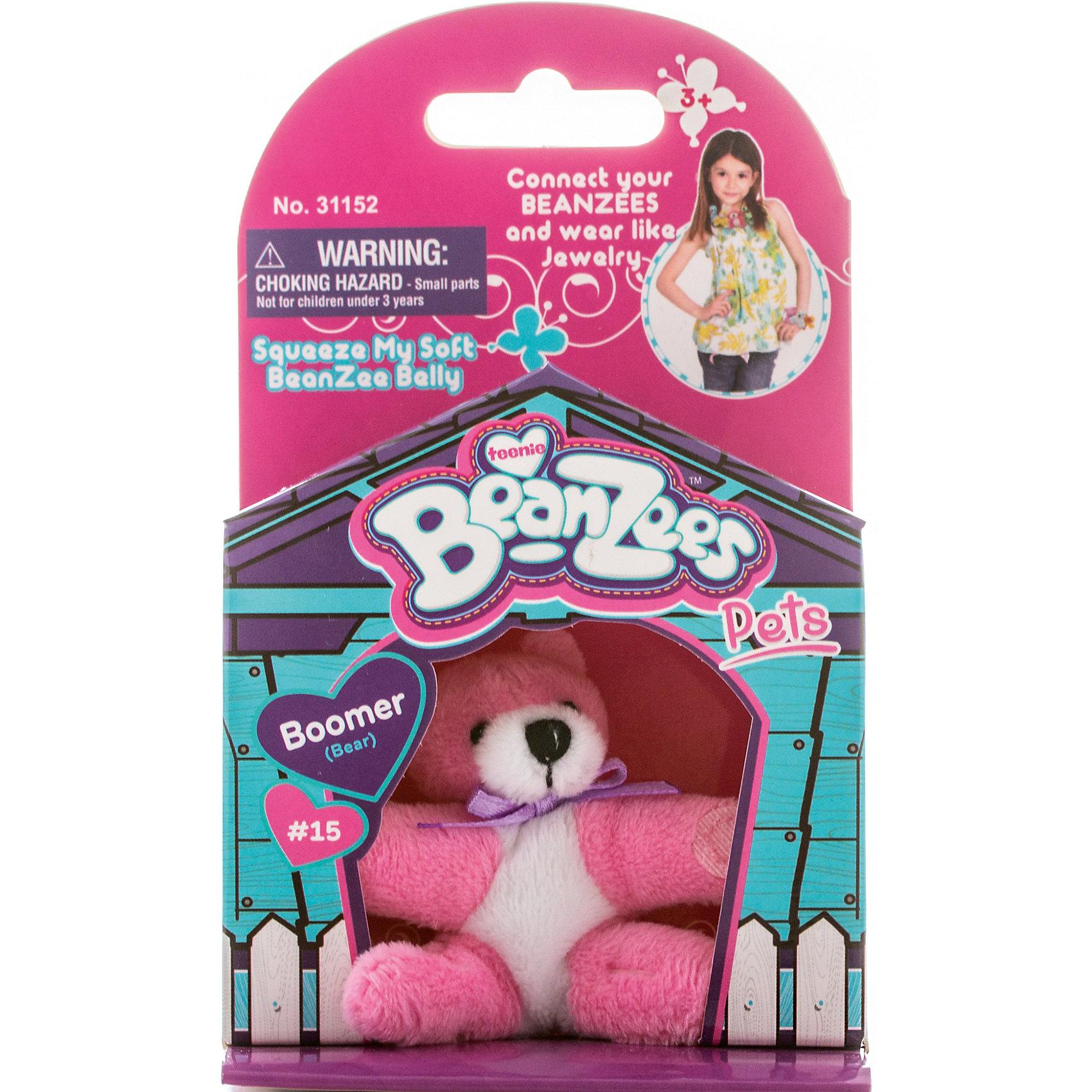 Мини-плюш Мишка розовый, BeanzeezХарактеристики товара:<br><br>• цвет: розовый<br>• особенности: наличие на лапках липучек, игрушку можно соединять с другими героями из серии<br>• материал: пластик, текстиль<br>• размер упаковки: 9х5,5х14,5 см.<br>• высота игрушки: 5 см<br>• возраст: от 3 лет<br>• страна бренда: США<br>• страна производства: Китай<br><br>Такая симпатичная игрушка не оставит ребенка равнодушным! Какой малыш откажется поиграть с маленькими плюшевыми игрушками из большой пушистой коллекции?! Игрушки очень качественно выполнены, поэтому такая фигурка станет отличным подарком ребенку. Благодаря липучкам на лапках животных можно соединить между собой. Дети приходят в восторг от этих игрушек!<br>Такие предметы помогают ребенку отрабатывать новые навыки и способности - развивать ловкость, мелкую моторику, воображение, мышление, логику. Изделие производится из качественных сертифицированных материалов, безопасных даже для самых маленьких.<br><br>Мини-плюш Мишка розовый от бренда Beanzeez можно купить в нашем интернет-магазине.<br><br>Ширина мм: 50<br>Глубина мм: 140<br>Высота мм: 85<br>Вес г: 73<br>Возраст от месяцев: 36<br>Возраст до месяцев: 2147483647<br>Пол: Женский<br>Возраст: Детский<br>SKU: 5218670