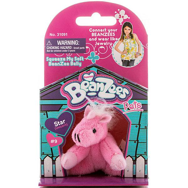 Мини-плюш Розовая лошадь, BeanzeezМягкие игрушки животные<br>Характеристики товара:<br><br>• цвет: розовый<br>• особенности: наличие на лапках липучек, игрушку можно соединять с другими героями из серии<br>• материал: пластик, текстиль<br>• размер упаковки: 9х5,5х14,5 см.<br>• высота игрушки: 5 см<br>• возраст: от 3 лет<br>• страна бренда: США<br>• страна производства: Китай<br><br>Такая симпатичная игрушка не оставит ребенка равнодушным! Какой малыш откажется поиграть с маленькими плюшевыми игрушками из большой пушистой коллекции?! Игрушки очень качественно выполнены, поэтому такая фигурка станет отличным подарком ребенку. Благодаря липучкам на лапках животных можно соединить между собой. Дети приходят в восторг от этих игрушек!<br>Такие предметы помогают ребенку отрабатывать новые навыки и способности - развивать ловкость, мелкую моторику, воображение, мышление, логику. Изделие производится из качественных сертифицированных материалов, безопасных даже для самых маленьких.<br><br>Мини-плюш Розовая лошадь от бренда Beanzeez можно купить в нашем интернет-магазине.<br><br>Ширина мм: 50<br>Глубина мм: 140<br>Высота мм: 85<br>Вес г: 73<br>Возраст от месяцев: 36<br>Возраст до месяцев: 2147483647<br>Пол: Женский<br>Возраст: Детский<br>SKU: 5218671