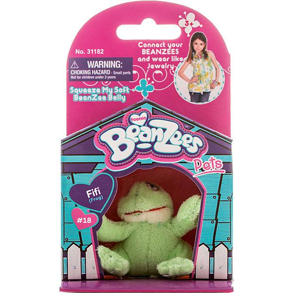 Мини-плюш Лягушка, BeanzeezМягкие игрушки животные<br>Характеристики товара:<br><br>• цвет: зеленый<br>• особенности: наличие на лапках липучек, игрушку можно соединять с другими героями из серии<br>• материал: пластик, текстиль<br>• размер упаковки: 9х5,5х14,5 см.<br>• высота игрушки: 5 см<br>• возраст: от 3 лет<br>• страна бренда: США<br>• страна производства: Китай<br><br>Такая симпатичная игрушка не оставит ребенка равнодушным! Какой малыш откажется поиграть с маленькими плюшевыми игрушками из большой пушистой коллекции?! Игрушки очень качественно выполнены, поэтому такая фигурка станет отличным подарком ребенку. Благодаря липучкам на лапках животных можно соединить между собой. Дети приходят в восторг от этих игрушек!<br>Такие предметы помогают ребенку отрабатывать новые навыки и способности - развивать ловкость, мелкую моторику, воображение, мышление, логику. Изделие производится из качественных сертифицированных материалов, безопасных даже для самых маленьких.<br><br>Мини-плюш Лягушка от бренда Beanzeez можно купить в нашем интернет-магазине.<br><br>Ширина мм: 50<br>Глубина мм: 140<br>Высота мм: 85<br>Вес г: 73<br>Возраст от месяцев: 36<br>Возраст до месяцев: 2147483647<br>Пол: Женский<br>Возраст: Детский<br>SKU: 5218673