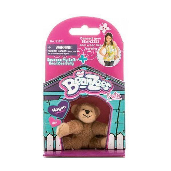 Мини-плюш Обезьянка, BeanzeezМягкие игрушки животные<br>Характеристики товара:<br><br>• особенности: наличие на лапках липучек, игрушку можно соединять с другими героями из серии<br>• материал: пластик, текстиль<br>• размер упаковки: 9х5,5х14,5 см.<br>• высота игрушки: 5 см<br>• возраст: от 3 лет<br>• страна бренда: США<br>• страна производства: Китай<br><br>Такая симпатичная игрушка не оставит ребенка равнодушным! Какой малыш откажется поиграть с маленькими плюшевыми игрушками из большой пушистой коллекции?! Игрушки очень качественно выполнены, поэтому такая фигурка станет отличным подарком ребенку. Благодаря липучкам на лапках животных можно соединить между собой. Дети приходят в восторг от этих игрушек!<br>Такие предметы помогают ребенку отрабатывать новые навыки и способности - развивать ловкость, мелкую моторику, воображение, мышление, логику. Изделие производится из качественных сертифицированных материалов, безопасных даже для самых маленьких.<br><br>Мини-плюш Мишка от бренда Beanzeez можно купить в нашем интернет-магазине.<br>Ширина мм: 50; Глубина мм: 140; Высота мм: 85; Вес г: 73; Возраст от месяцев: 36; Возраст до месяцев: 2147483647; Пол: Женский; Возраст: Детский; SKU: 5218678;