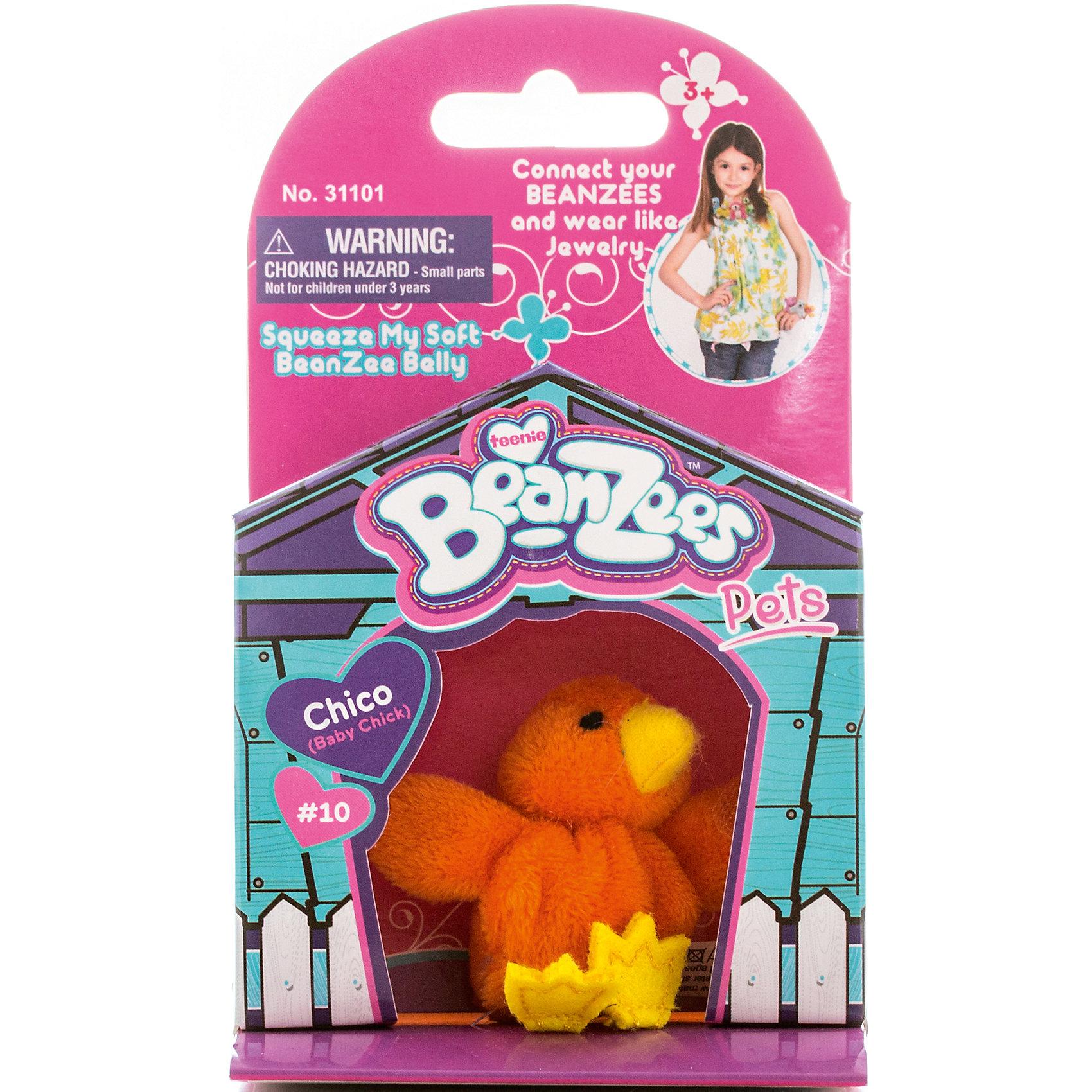 Мини-плюш Циплёнок, BeanzeezХарактеристики товара:<br><br>• особенности: наличие на лапках липучек, игрушку можно соединять с другими героями из серии<br>• материал: пластик, текстиль<br>• размер упаковки: 9х5,5х14,5 см.<br>• высота игрушки: 5 см<br>• возраст: от 3 лет<br>• страна бренда: США<br>• страна производства: Китай<br><br>Такая симпатичная игрушка не оставит ребенка равнодушным! Какой малыш откажется поиграть с маленькими плюшевыми игрушками из большой пушистой коллекции?! Игрушки очень качественно выполнены, поэтому такая фигурка станет отличным подарком ребенку. Благодаря липучкам на лапках животных можно соединить между собой. Дети приходят в восторг от этих игрушек!<br>Такие предметы помогают ребенку отрабатывать новые навыки и способности - развивать ловкость, мелкую моторику, воображение, мышление, логику. Изделие производится из качественных сертифицированных материалов, безопасных даже для самых маленьких.<br><br>Мини-плюш Цыплёнок от бренда Beanzeez можно купить в нашем интернет-магазине.<br><br>Ширина мм: 50<br>Глубина мм: 140<br>Высота мм: 85<br>Вес г: 73<br>Возраст от месяцев: 36<br>Возраст до месяцев: 2147483647<br>Пол: Женский<br>Возраст: Детский<br>SKU: 5218684