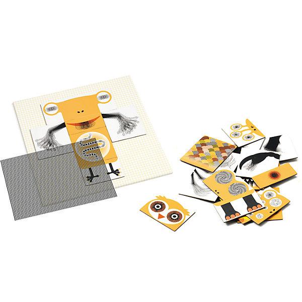 Пазл-аниматор Монстр, DJECOПазлы для малышей<br><br>Пазл-аниматор Монстр, DJECO (Джеко).<br><br>Характеристика:<br><br>• Материал: картон, магнит, пластик.   <br>• Размер упаковки: 23 х 23 х 5 см.<br>• Размер картинки: 21,5 х 21,5 см.<br>• Комплектация: магнитный лист-основа, 2 оптик-листа, 25 частей пазла, инструкция с примерами.<br>• Отдельные детали пазла двигаются. <br>• Развивает моторику рук, внимание и фантазию.<br>• Оригинальный красочный дизайн.<br>• Рекомендован для детей от 5 лет. <br><br>Пазлы-аниматоры Киноптик от французского бренда Джеко приведут в восторг любого ребенка! С этим чудесным набором дети смогут создать забавных монстриков, а затем оживить их! Нужно лишь собрать из деталей картинку, приложить к ней специальный прозрачный лист и провести по нему рукой: очаровательные монстры оживут и будут двигаться!  <br>Все детали набора выполнены из высококачественных нетоксичных материалов абсолютно безопасных для детей. Игра с пазлом - увлекательное и полезное занятие, развивающее моторику рук, внимание, фантазию и умение работать по инструкции. <br><br>Пазл-аниматор Монстр, DJECO (Джеко), можно купить в нашем интернет-магазине.<br><br>Ширина мм: 230<br>Глубина мм: 230<br>Высота мм: 50<br>Вес г: 800<br>Возраст от месяцев: 60<br>Возраст до месяцев: 2147483647<br>Пол: Унисекс<br>Возраст: Детский<br>SKU: 5218934