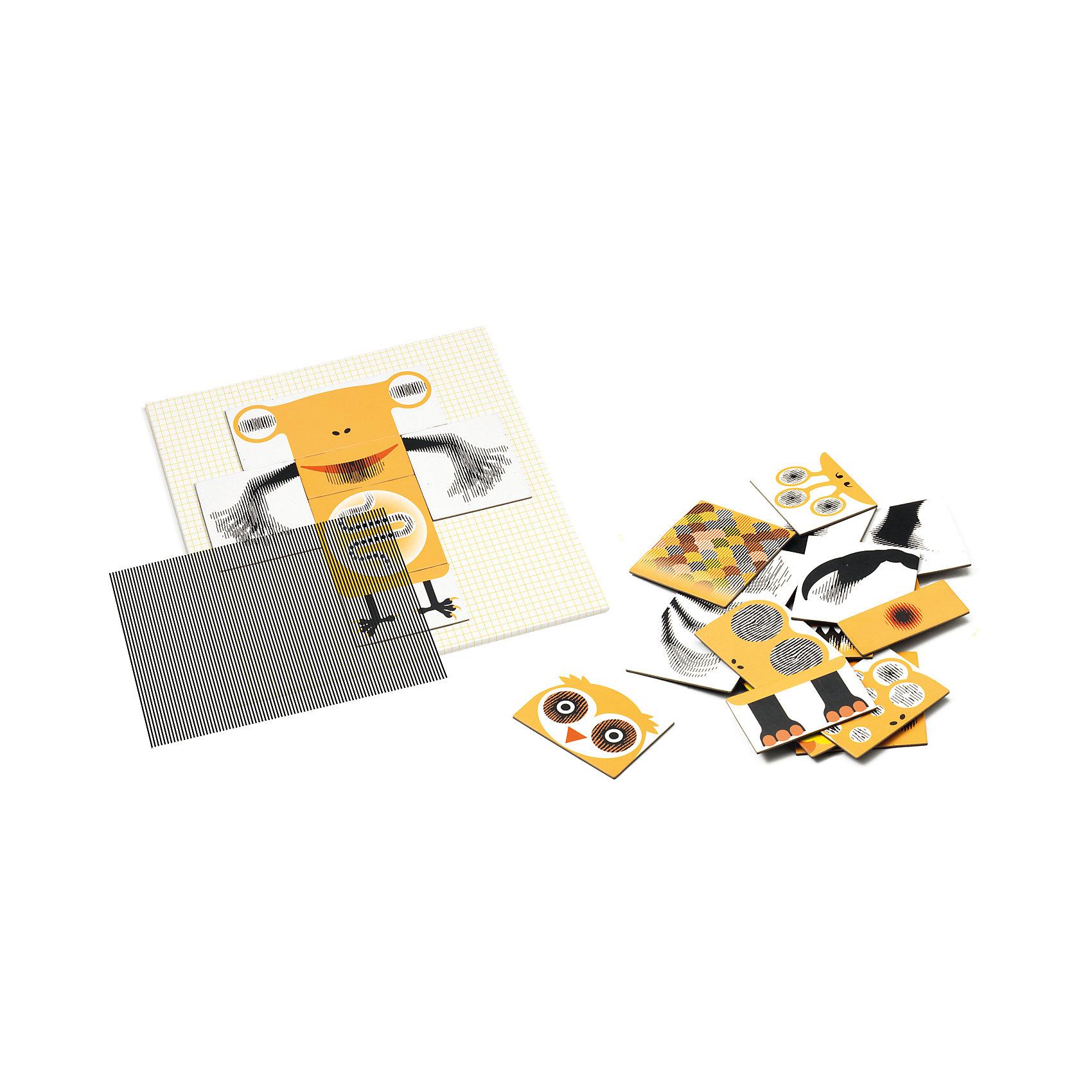 Пазл-аниматор Монстр, DJECO<br>Пазл-аниматор Монстр, DJECO (Джеко).<br><br>Характеристика:<br><br>• Материал: картон, магнит, пластик.   <br>• Размер упаковки: 23 х 23 х 5 см.<br>• Размер картинки: 21,5 х 21,5 см.<br>• Комплектация: магнитный лист-основа, 2 оптик-листа, 25 частей пазла, инструкция с примерами.<br>• Отдельные детали пазла двигаются. <br>• Развивает моторику рук, внимание и фантазию.<br>• Оригинальный красочный дизайн.<br>• Рекомендован для детей от 5 лет. <br><br>Пазлы-аниматоры Киноптик от французского бренда Джеко приведут в восторг любого ребенка! С этим чудесным набором дети смогут создать забавных монстриков, а затем оживить их! Нужно лишь собрать из деталей картинку, приложить к ней специальный прозрачный лист и провести по нему рукой: очаровательные монстры оживут и будут двигаться!  <br>Все детали набора выполнены из высококачественных нетоксичных материалов абсолютно безопасных для детей. Игра с пазлом - увлекательное и полезное занятие, развивающее моторику рук, внимание, фантазию и умение работать по инструкции. <br><br>Пазл-аниматор Монстр, DJECO (Джеко), можно купить в нашем интернет-магазине.<br><br>Ширина мм: 230<br>Глубина мм: 230<br>Высота мм: 50<br>Вес г: 800<br>Возраст от месяцев: 60<br>Возраст до месяцев: 2147483647<br>Пол: Унисекс<br>Возраст: Детский<br>SKU: 5218934