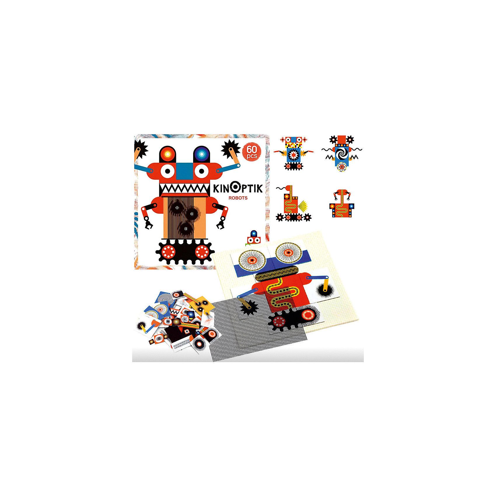 Пазл-аниматор Робот, DJECOПазлы до 24 деталей<br><br>Пазл-аниматор Робот, DJECO (Джеко).<br><br>Характеристика:<br><br>• Материал: картон, магнит, пластик.   <br>• Размер упаковки: 32 х 32 х 5 см.<br>• Размер картинки: 30 х 30 см.<br>• Комплектация: магнитный лист-основа, 2 оптик-листа, 60 частей пазла, инструкция с примерами.<br>• Отдельные детали пазла двигаются. <br>• Развивает моторику рук, внимание и фантазию.<br>• Оригинальный красочный дизайн.<br>• Рекомендован для детей от 5 лет. <br><br>Пазлы-аниматоры Киноптик от французского бренда Джеко приведут в восторг любого ребенка! С этим чудесным набором дети смогут создать забавных роботов, а затем оживить их! Нужно лишь собрать из деталей картинку, приложить к ней специальный прозрачный лист и провести по нему рукой: веселые роботы оживут и будут двигаться!  <br>Все детали набора выполнены из высококачественных нетоксичных материалов абсолютно безопасных для детей. Игра с пазлом - увлекательное и полезное занятие, развивающее моторику рук, внимание, фантазию и умение работать по инструкции. <br><br>Пазл-аниматор Робот, DJECO (Джеко), можно купить в нашем интернет-магазине.<br><br>Ширина мм: 320<br>Глубина мм: 320<br>Высота мм: 50<br>Вес г: 1000<br>Возраст от месяцев: 60<br>Возраст до месяцев: 2147483647<br>Пол: Унисекс<br>Возраст: Детский<br>SKU: 5218935