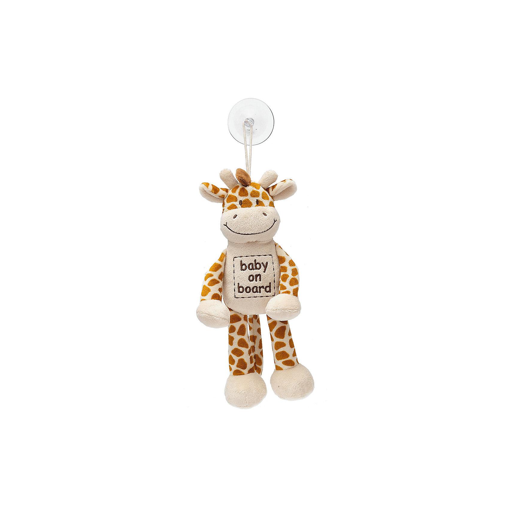 Знак Ребенок в машине Жираф, ДинглисарАксессуары<br>Характеристики мягкой игрушки Teddykompaniet: <br><br>• размер игрушки: 24 см;<br>• материал: 100% хлопок (безворсовый велюр);<br>• надпись: baby on board;<br>• серия: Динглисар;<br>• тип крепления: присоска.<br><br>Игрушка-знак «Жираф» символизирует водителям: ребенок в машине. Мягкая игрушка-подвеска крепится к стеклу автомобиля с помощью присоски. Игрушка выполнена из гипоаллергенного материала, внутри мягкий наполнитель. <br><br>Знак Ребенок в машине Жираф, Динглисар можно купить в нашем интернет-магазине.<br><br>Ширина мм: 50<br>Глубина мм: 100<br>Высота мм: 100<br>Вес г: 20<br>Возраст от месяцев: 0<br>Возраст до месяцев: 12<br>Пол: Унисекс<br>Возраст: Детский<br>SKU: 5219505